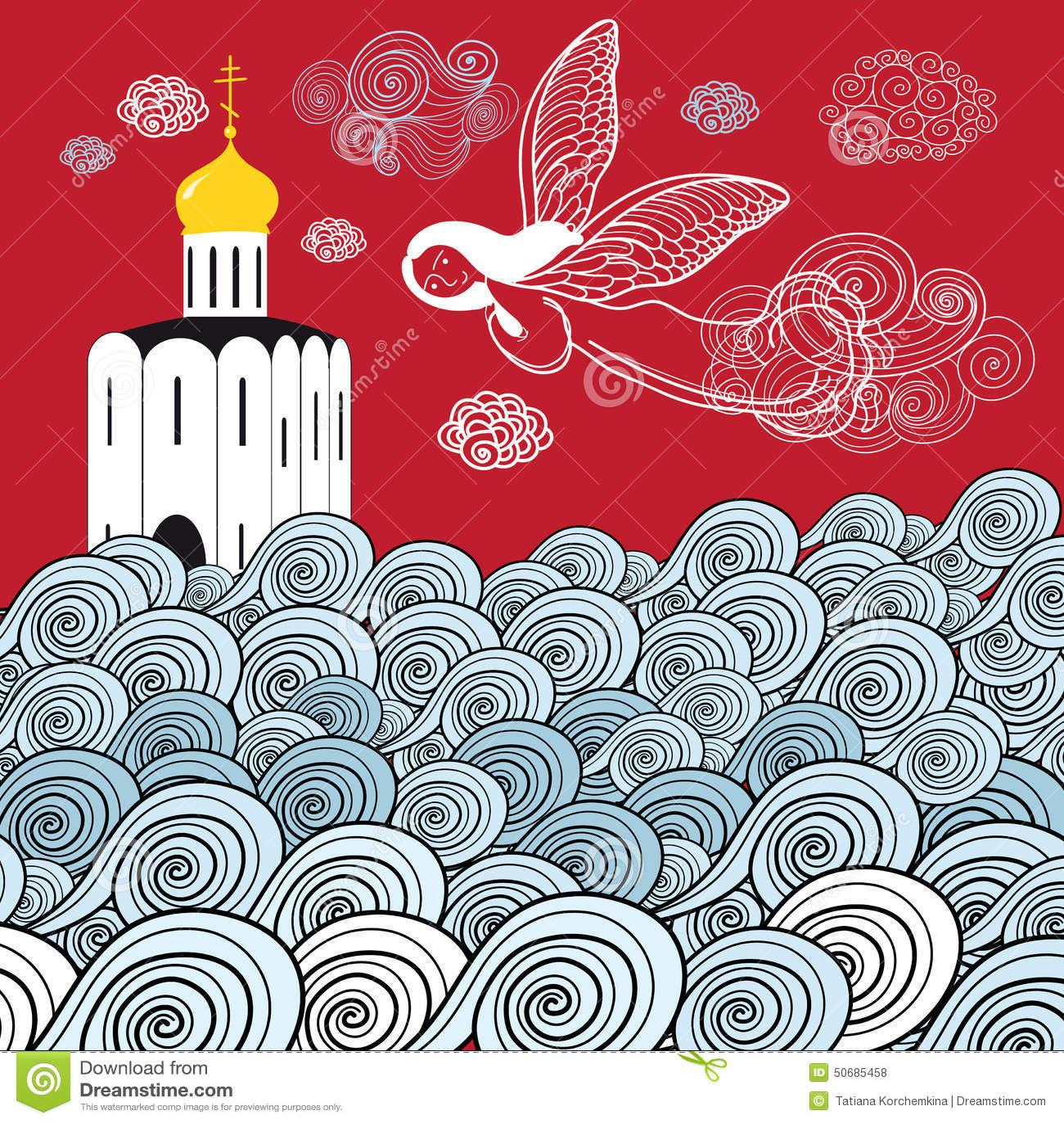 Download 东正教和生活河 向量例证. 插画 包括有 宗教信仰, 向量, 颜色, 剪影, 圆顶, 布琼布拉, 教会, 幸福 - 50685458
