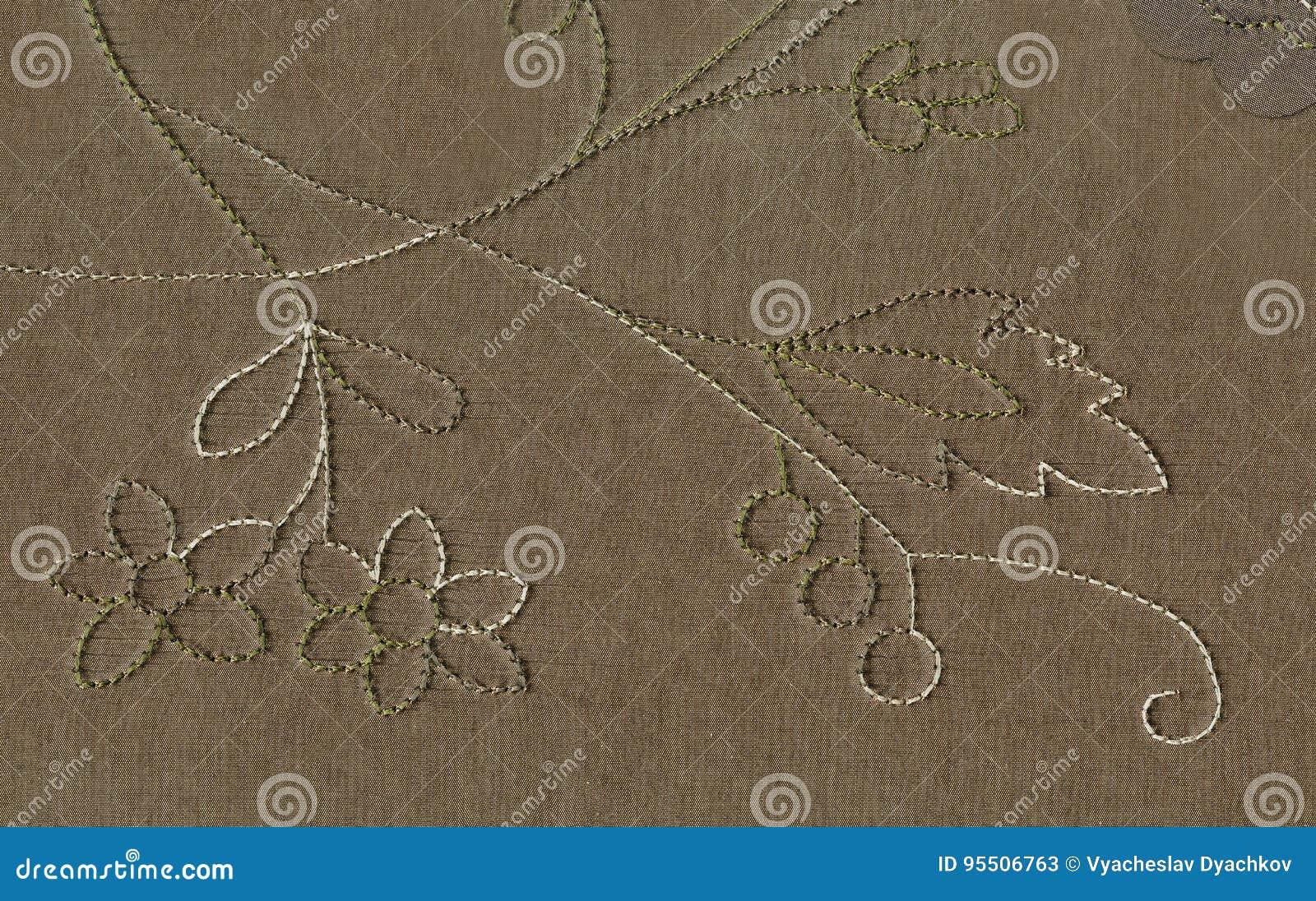 丝织物纹理与花饰的一个过大的visitim螺纹样式的 北艺术Nouvea的维多利亚女王时代的样式