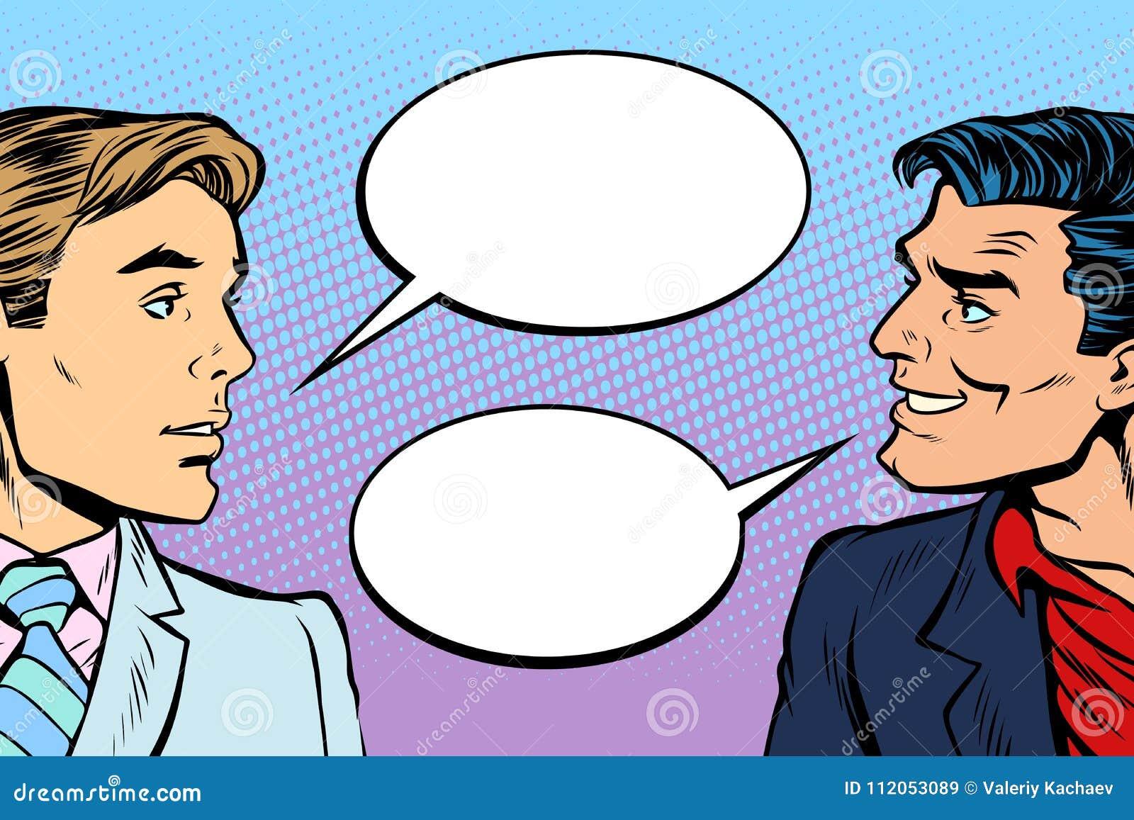 两个人对话