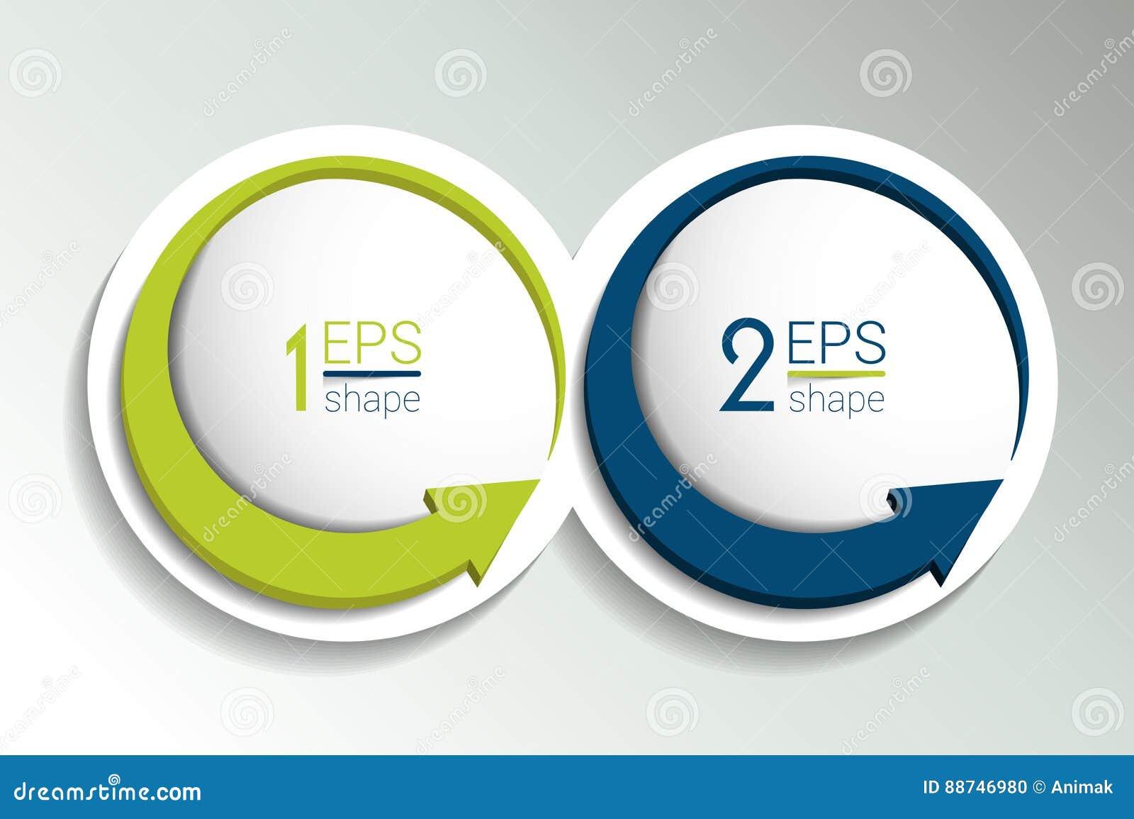 两个企业元素横幅,模板 2步设计,绘制, infographic,逐步的数字选择,布局