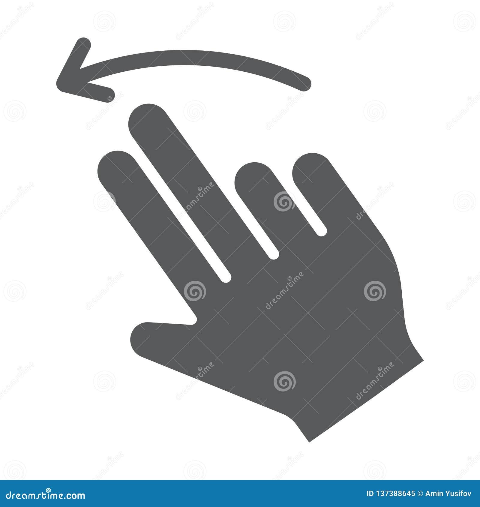 两个手指轻打被留下的纵的沟纹象、姿态和手,重击标志,向量图形,在白色背景的一个坚实样式