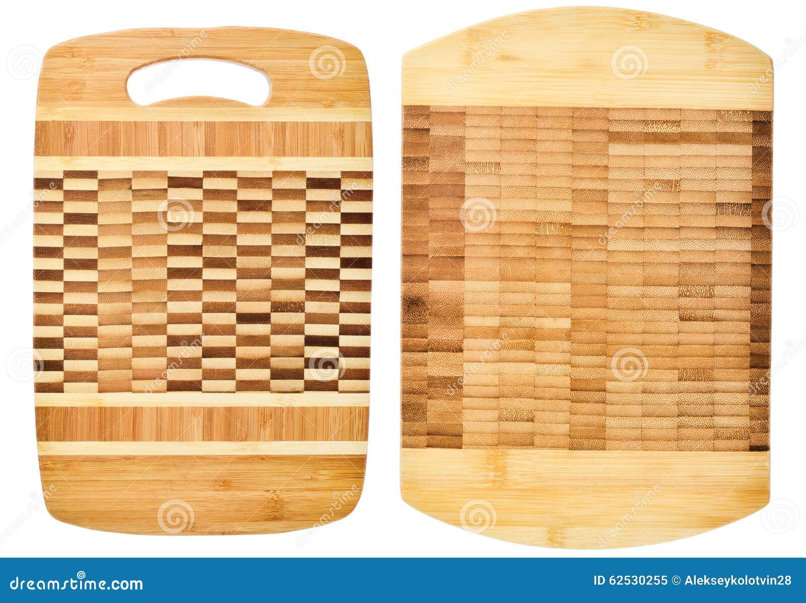两在白色背景隔绝的木切板