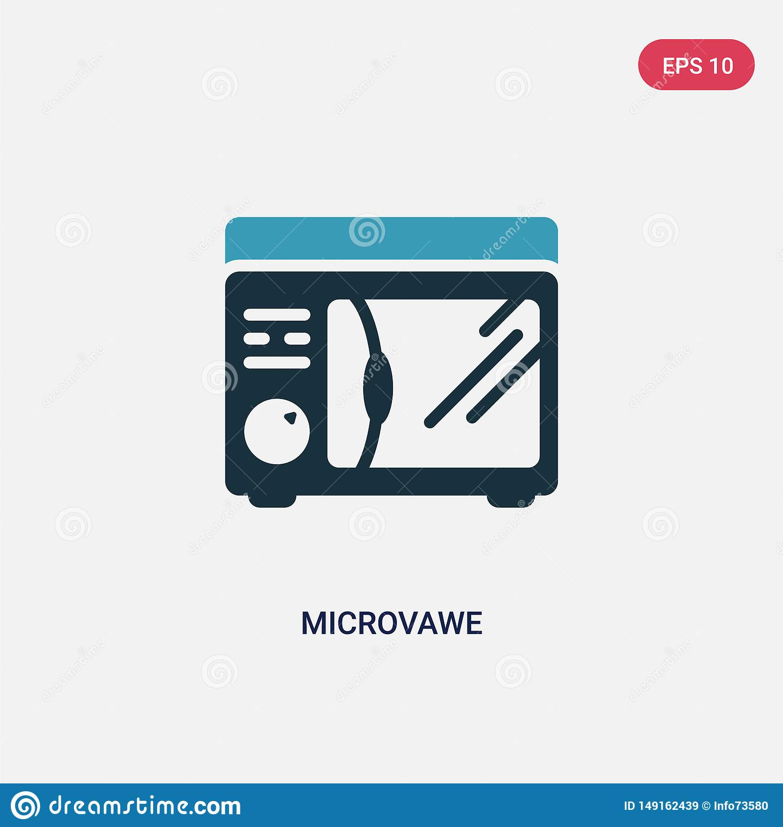 两种颜色的microvawe导航从其他概念的象 被隔绝的蓝色microvawe传染媒介标志标志可以是网、机动性和商标的用途