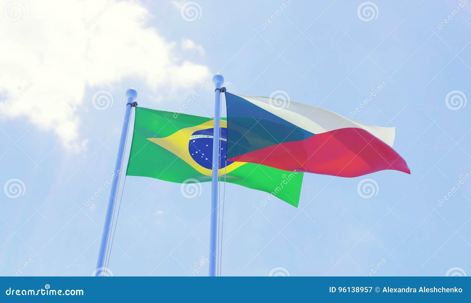 两面挥动的旗子