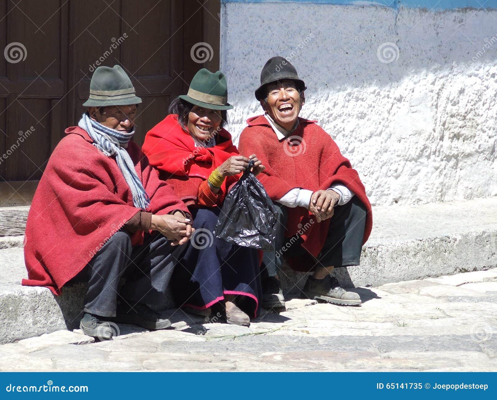 3个人在厄瓜多尔
