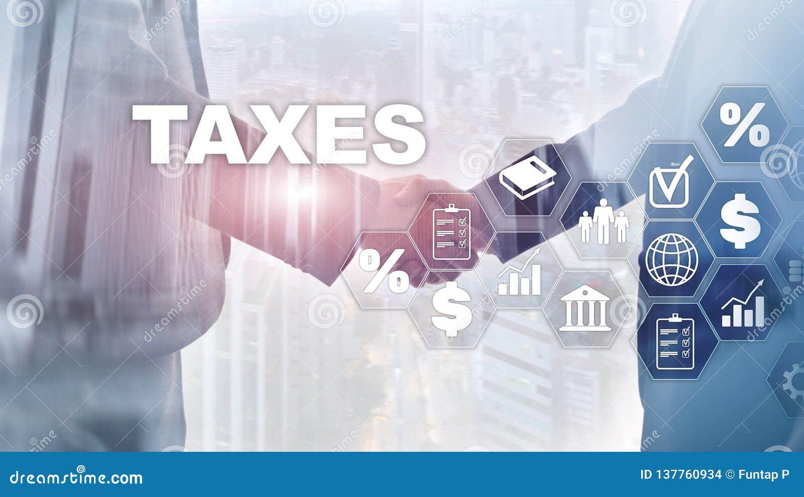 个体和公司缴纳的税的概念例如大桶、收入和财产税 付税 州税