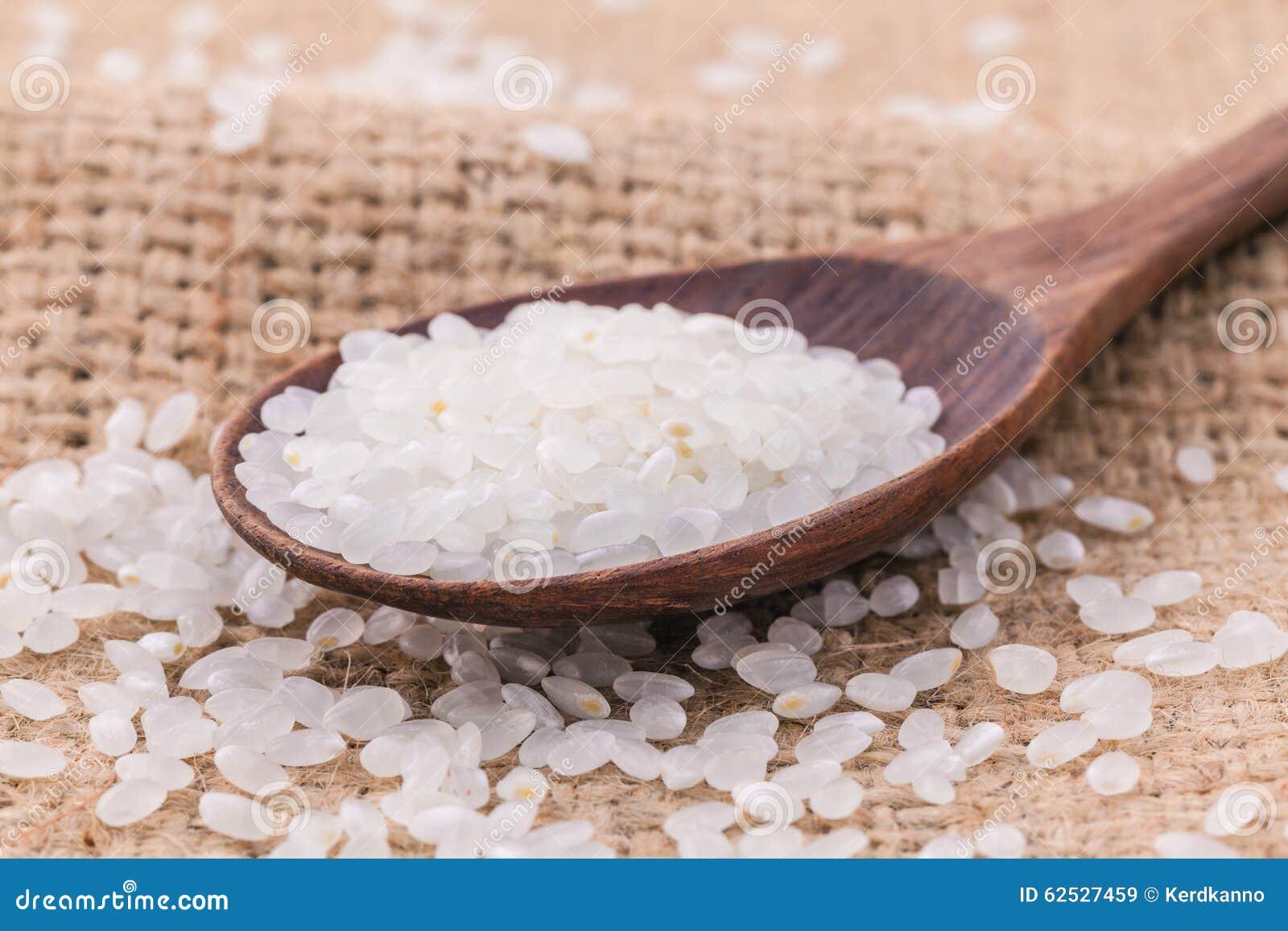 整个在木匙子的五谷传统日本米有大麻的