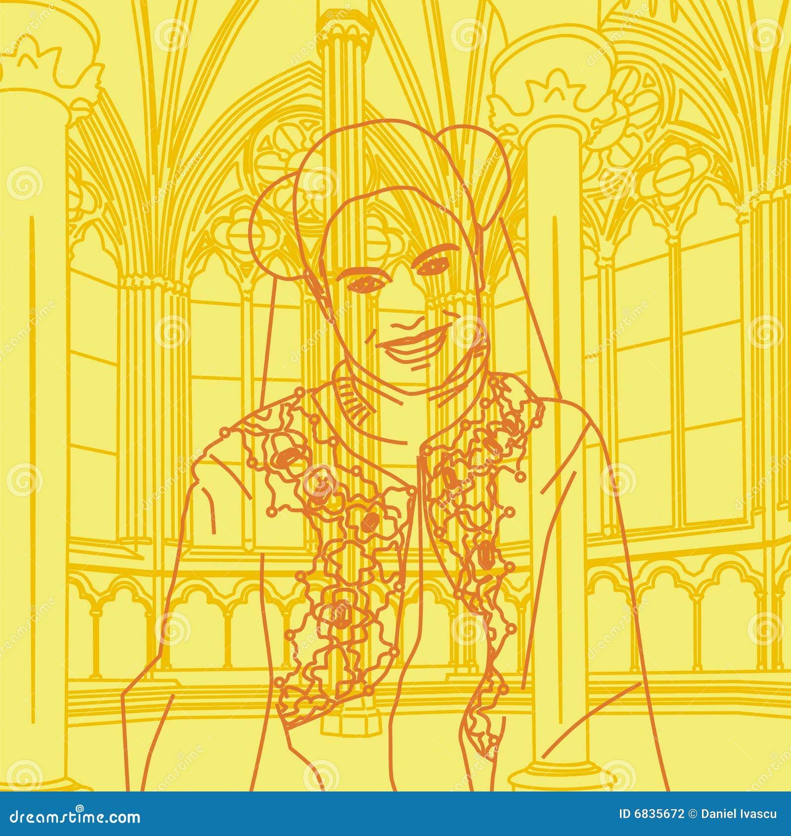 中世纪公主微笑