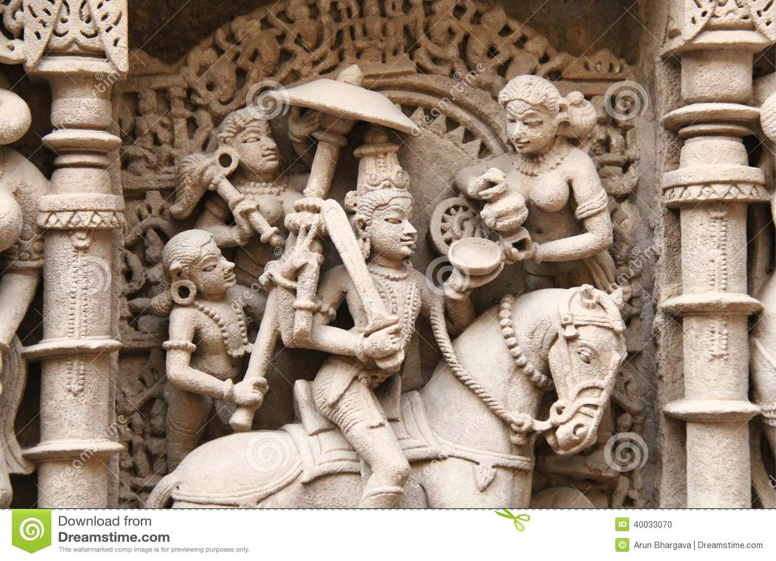 中世纪印度的石雕塑