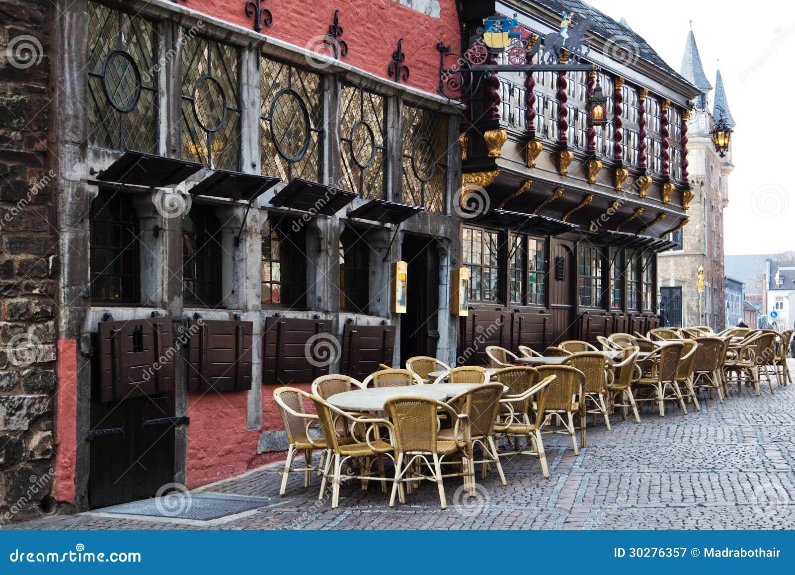 中世纪大厦在亚琛,德国