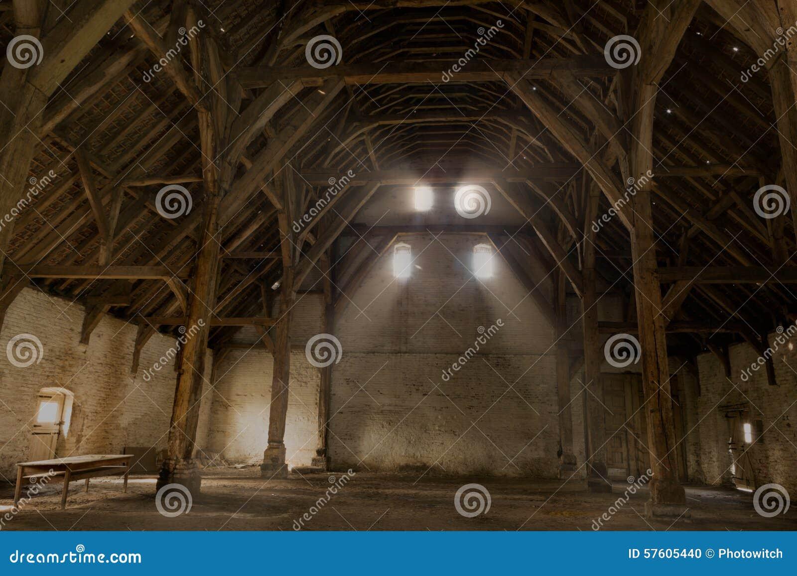 中世纪富兰德的储放什一税农产品的仓库