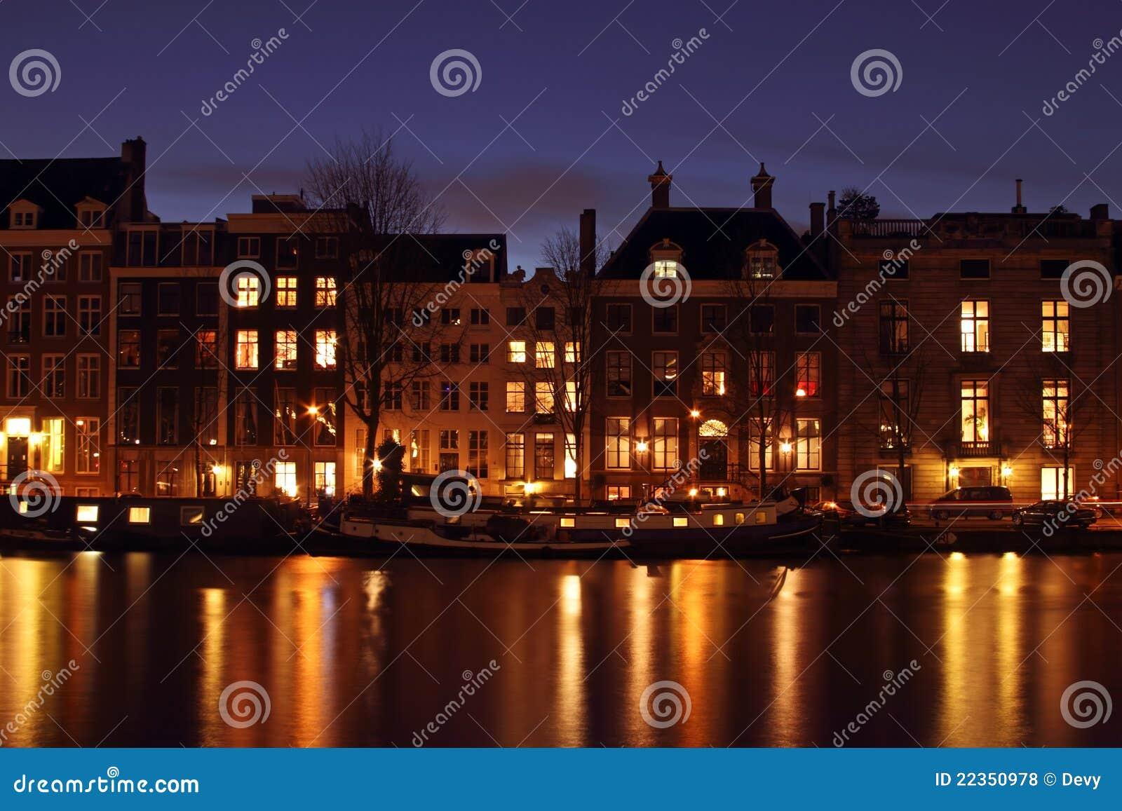 中世纪房子在阿姆斯特丹荷兰