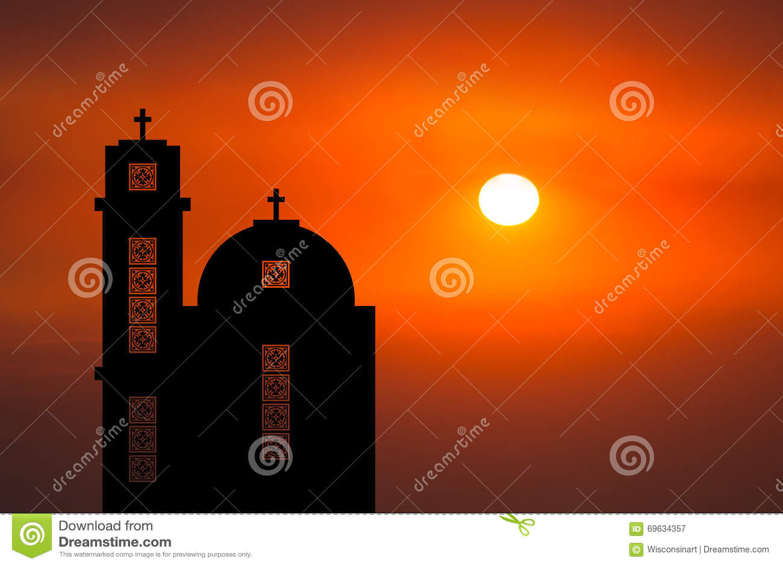 中东教会日出日落