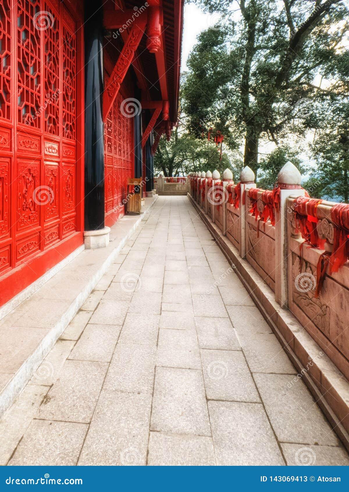 中国四川青城山单老圣洁山道士寺庙