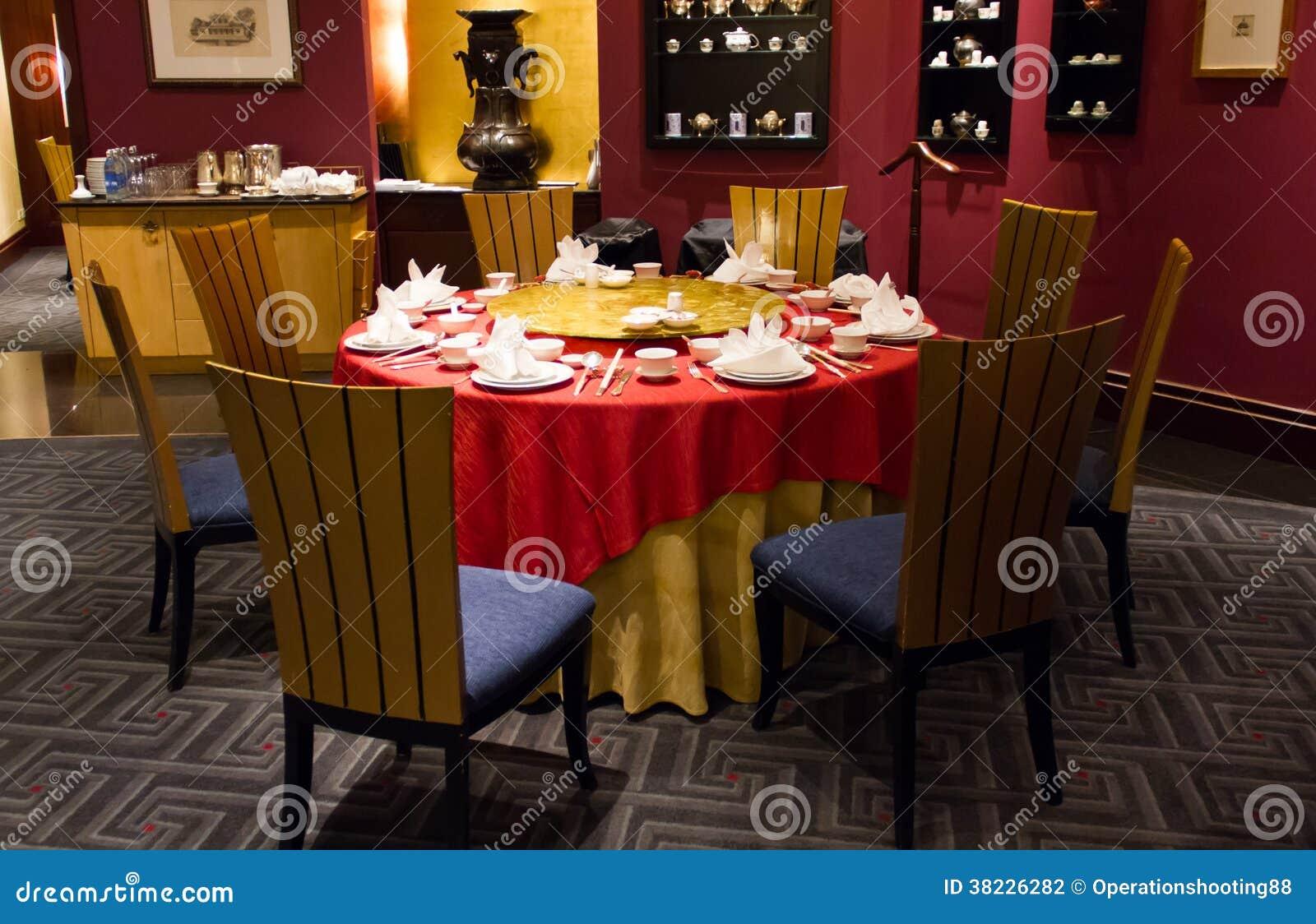 中国式在餐馆的饭桌.图片
