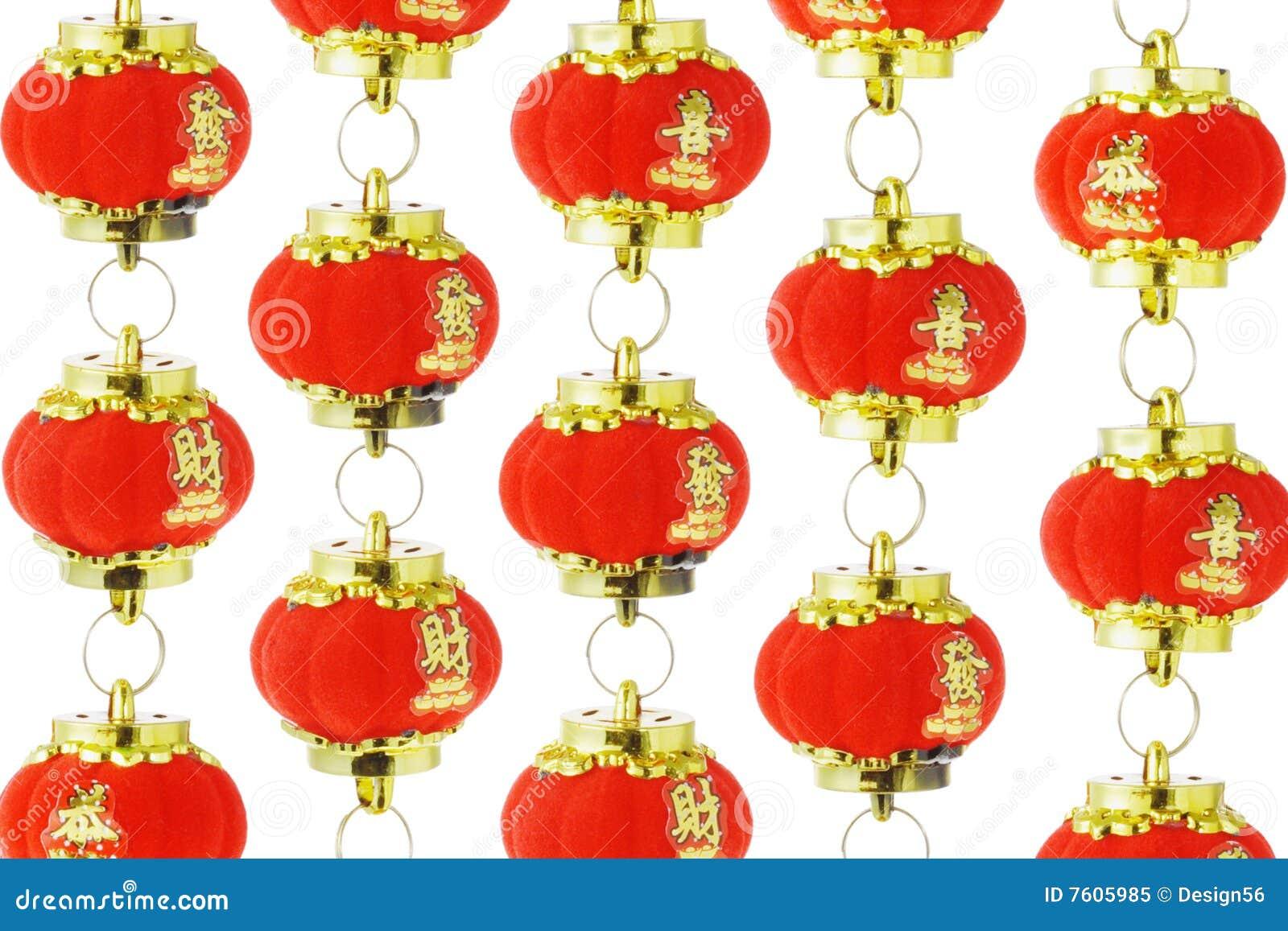中国灯笼装饰红色