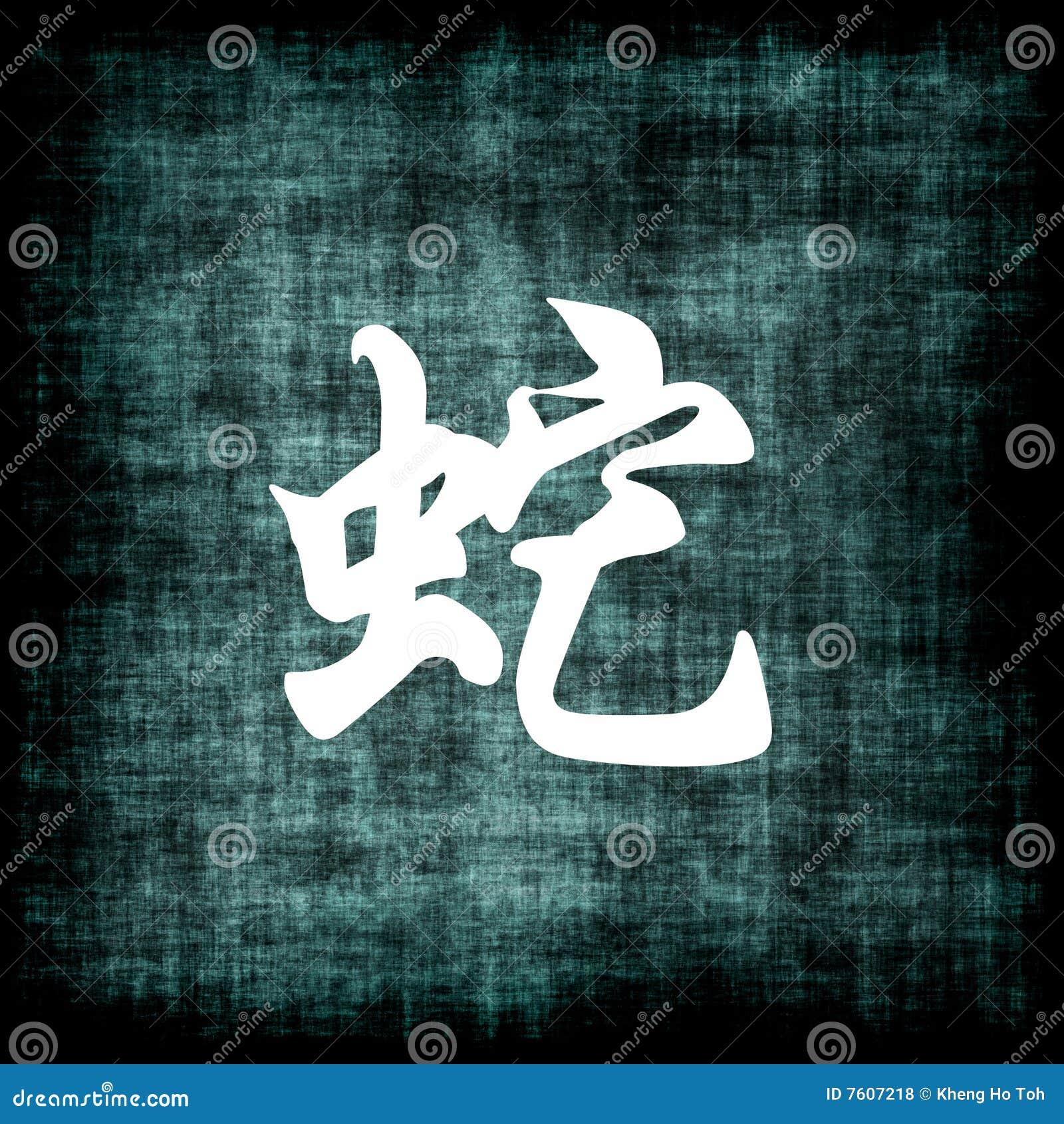 中国符号蛇黄道带