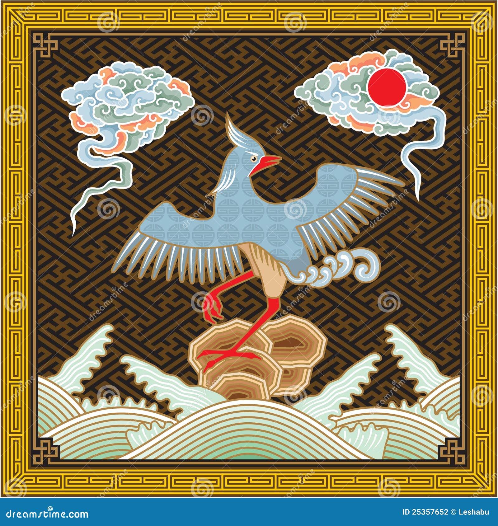 中国详细高模式传统的菲尼斯