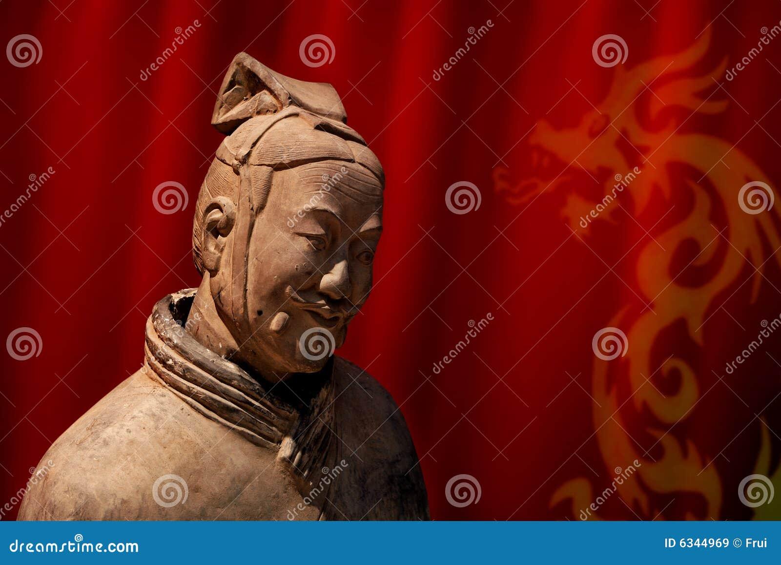 中国赤土陶器战士