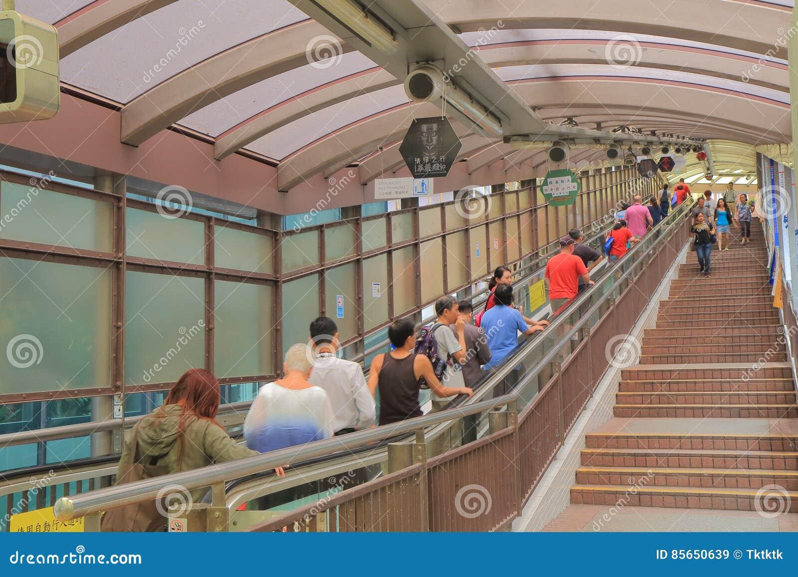 中央中间平实自动扶梯香港