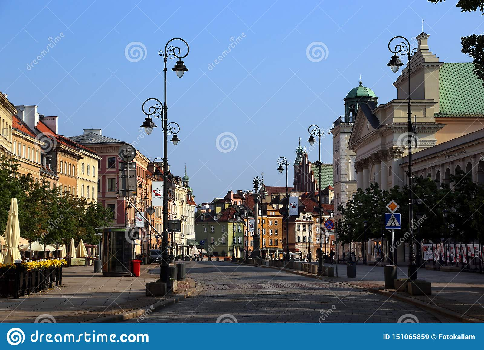 中央步行街道克拉科夫郊区