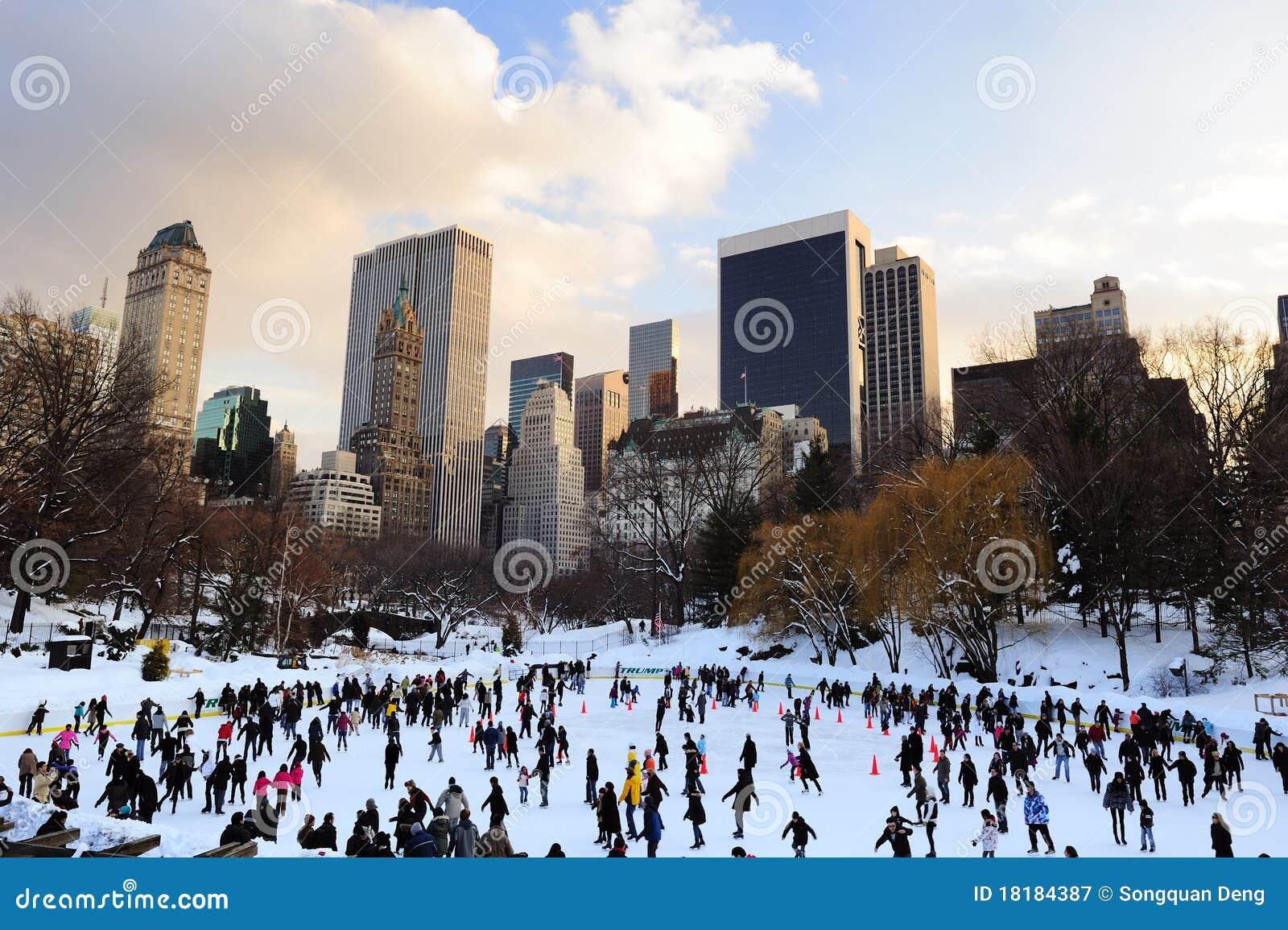 中心城市冰新的公园冰鞋约克