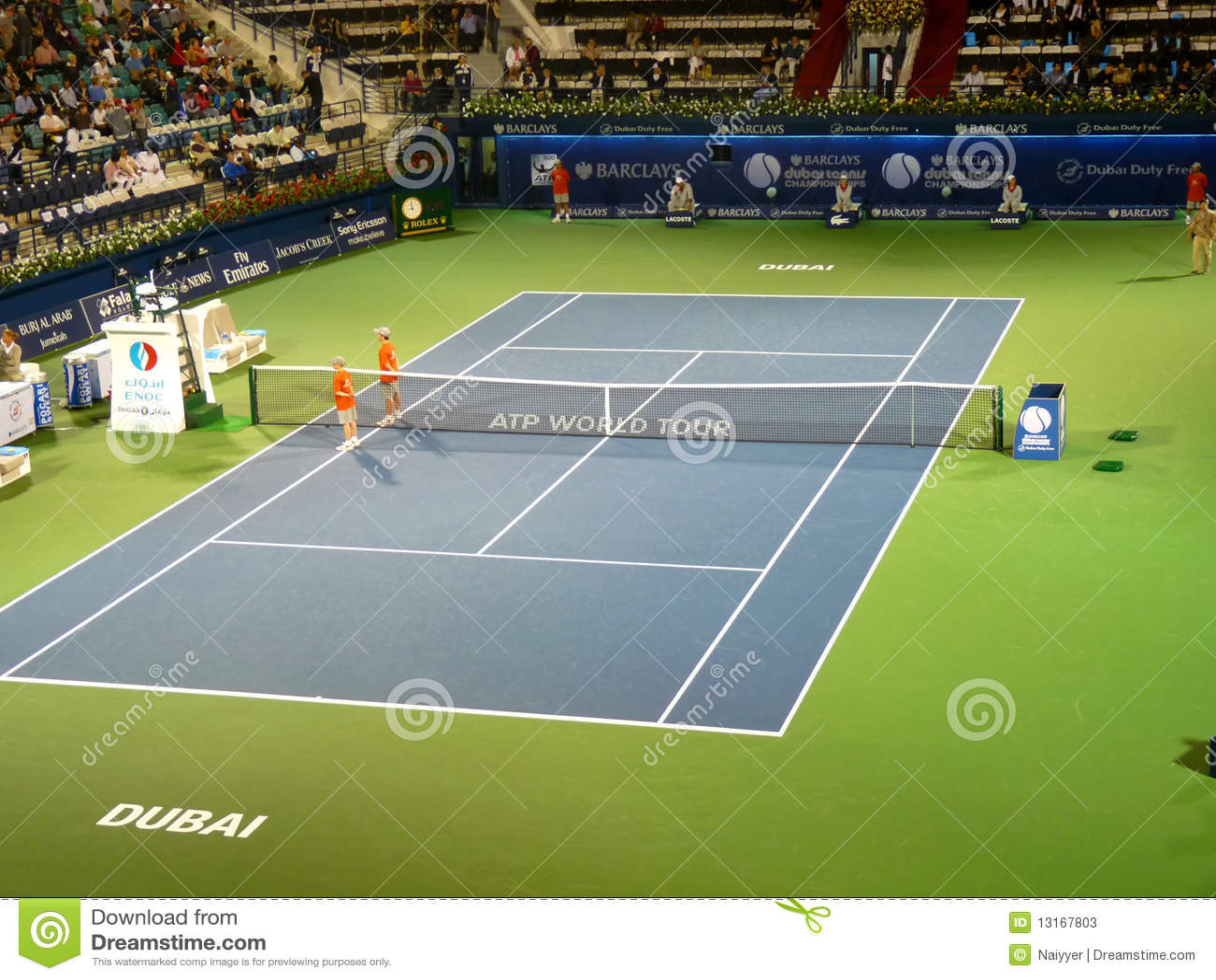 中心现场迪拜体育场网球