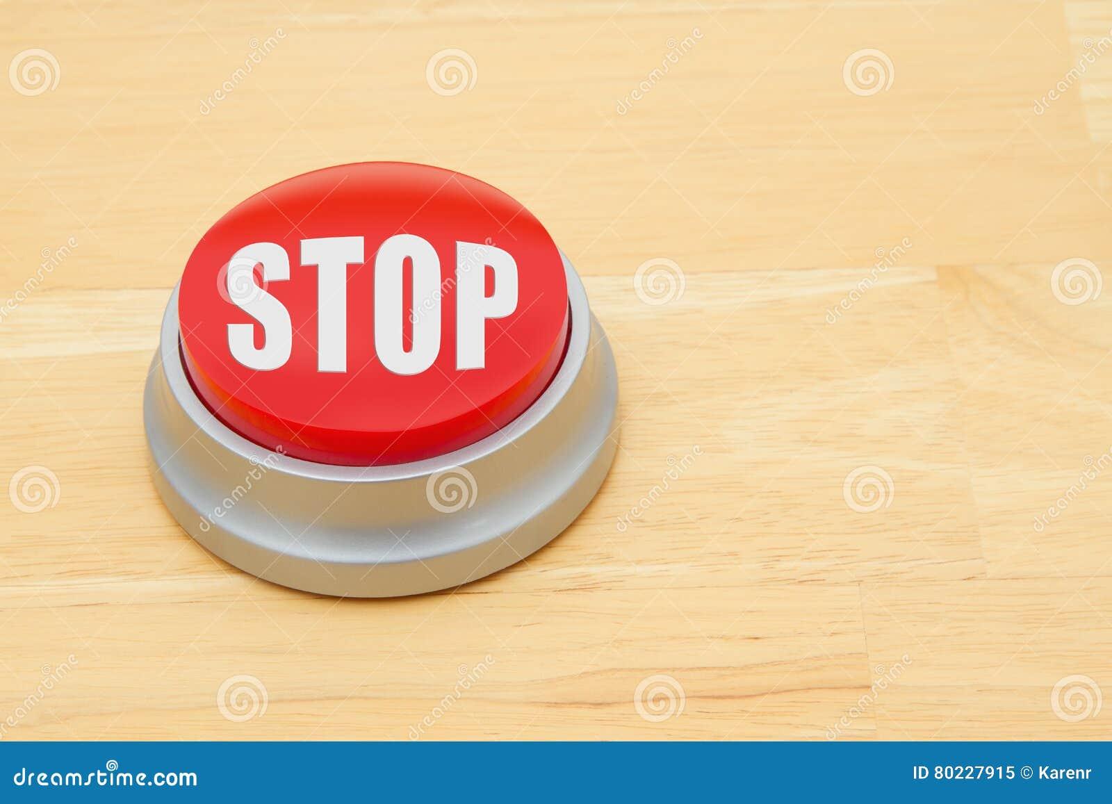 中止红色按钮