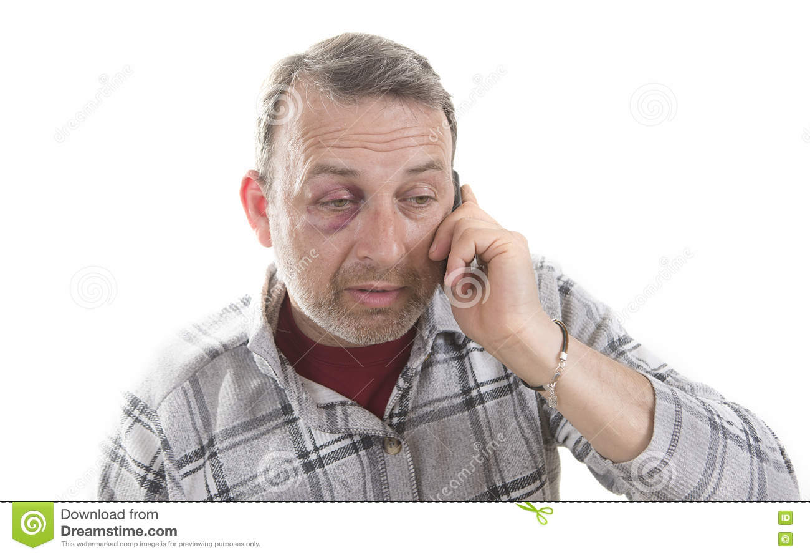 中年白种人男性情感画象以真正的挫伤