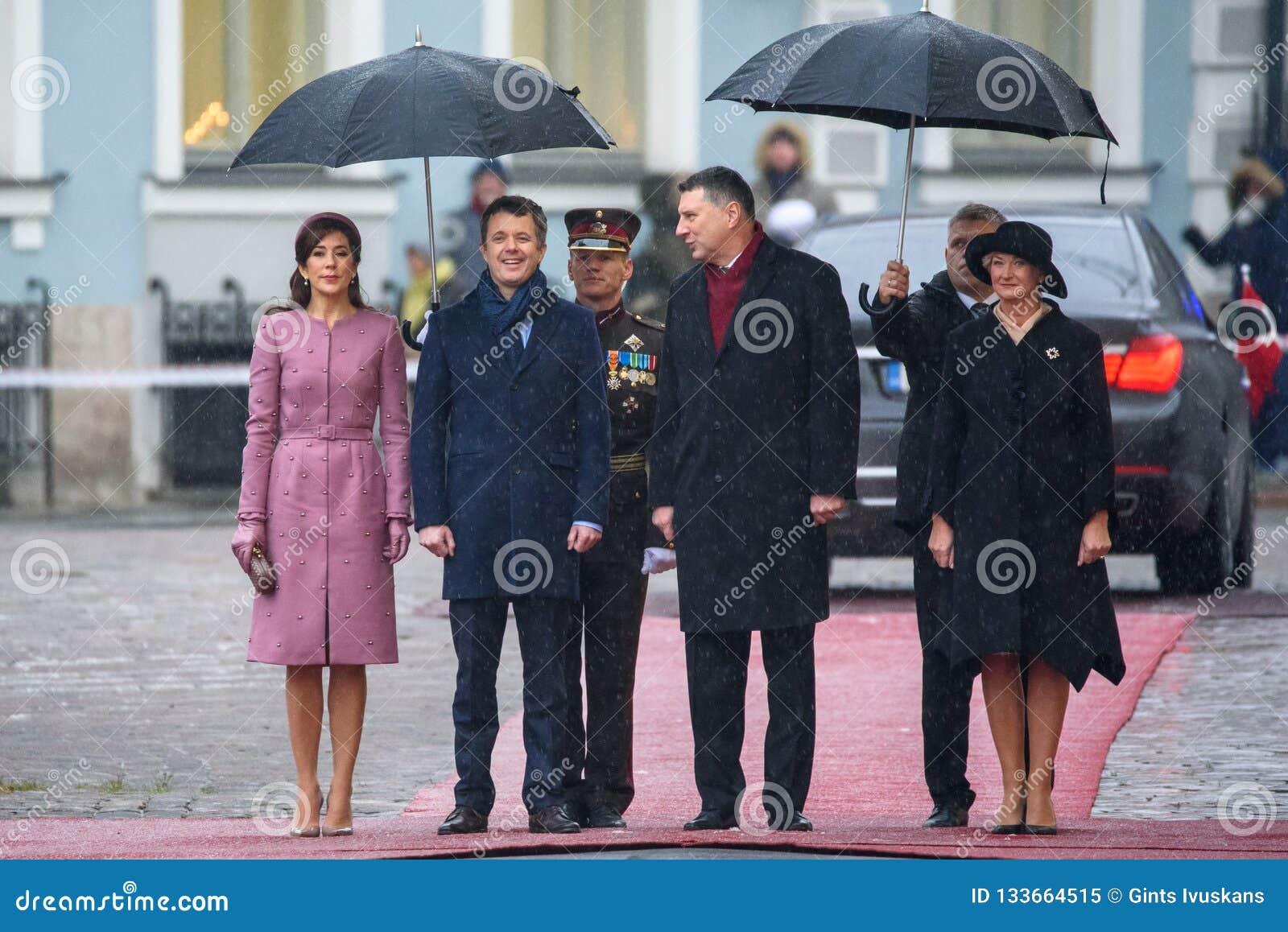 丹麦弗雷德里克,玛丽丹麦、Raimonds Vejonis和伊韦塔Vejone伊丽莎白公主的皇太子