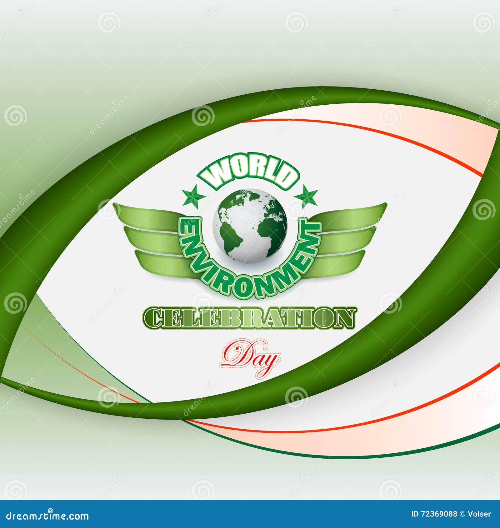 为世界环境日,庆祝设计背景