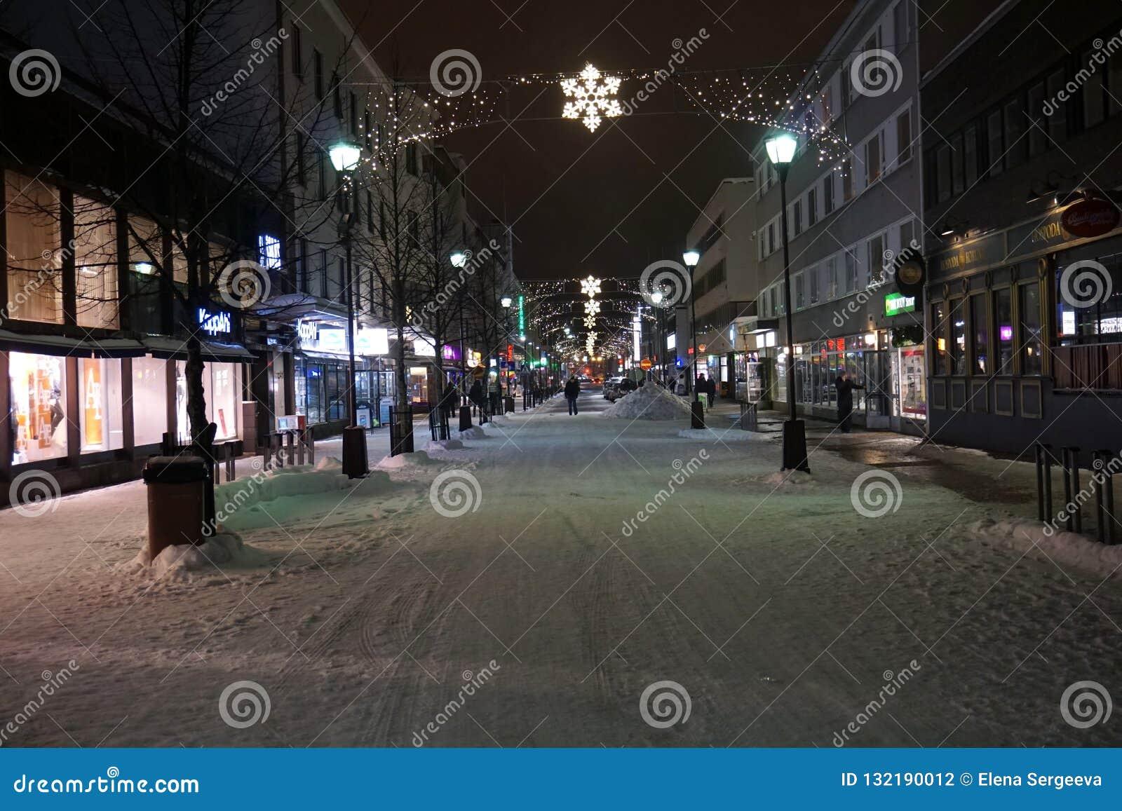 为圣诞节装饰的街道