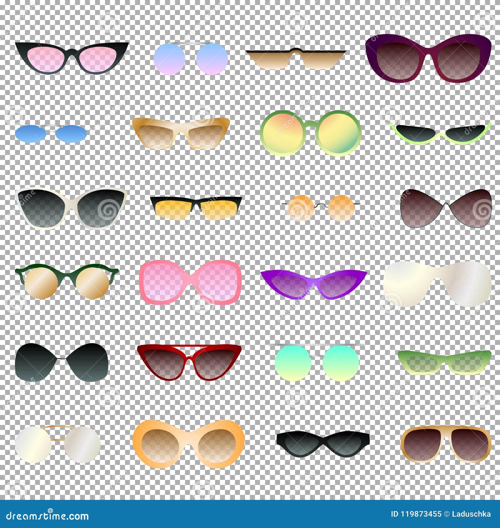 为clipart设置透明和不透明的eyewear