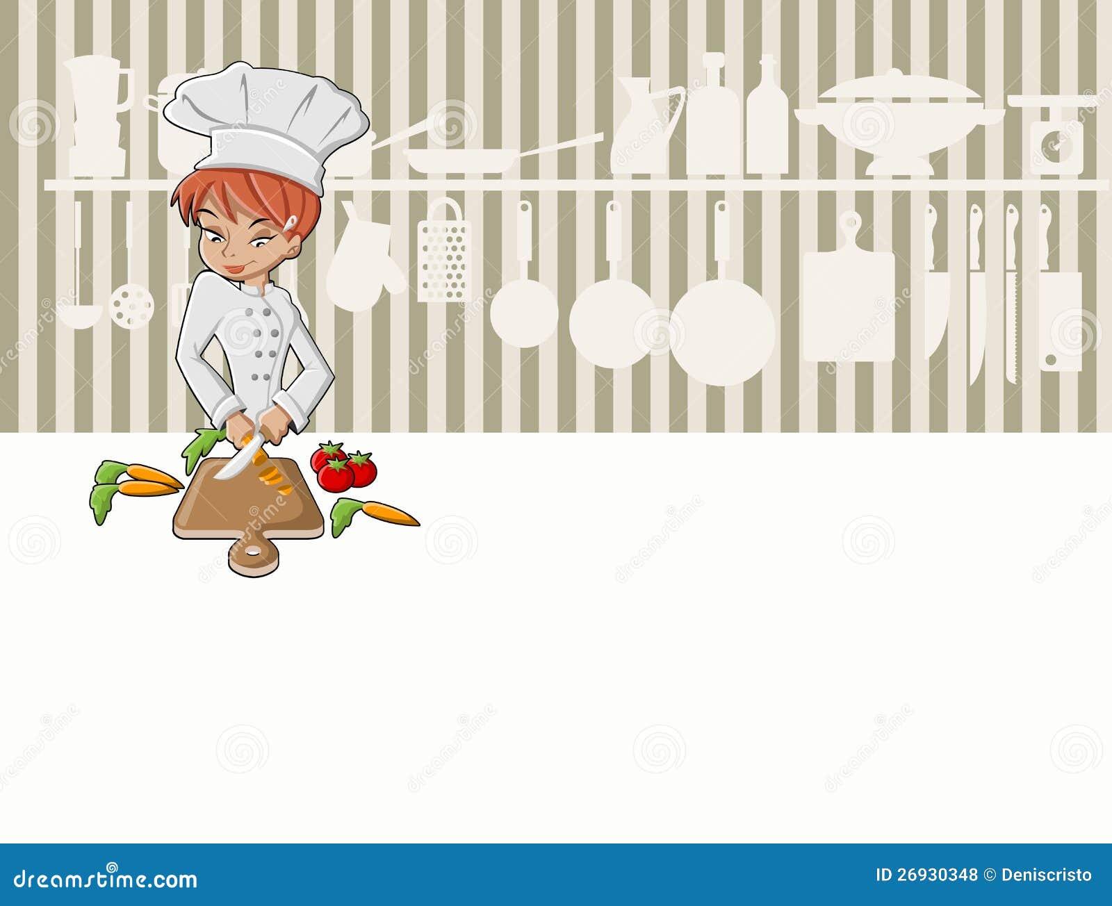 主厨女孩烹调