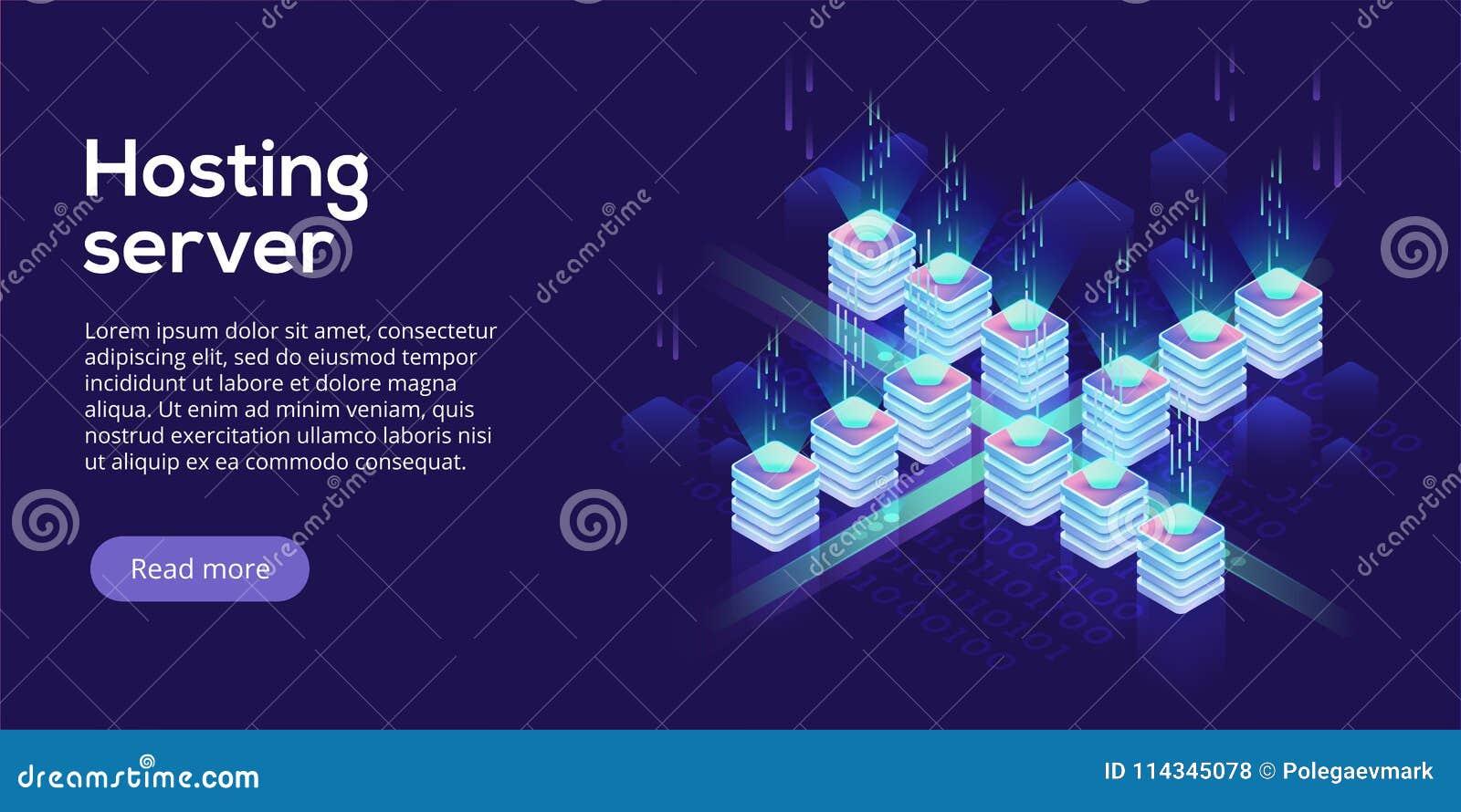 主服务器等量传染媒介例证 抽象3d datace