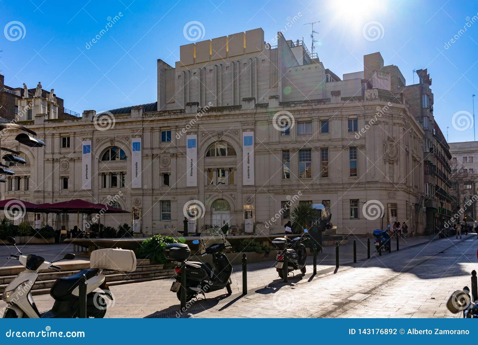 主要剧院在萨瓦格萨,西班牙