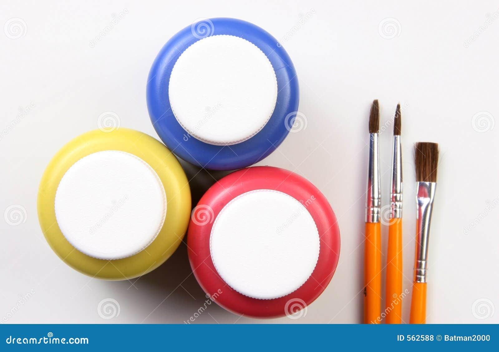 主要艺术性的颜色表达式的孩子