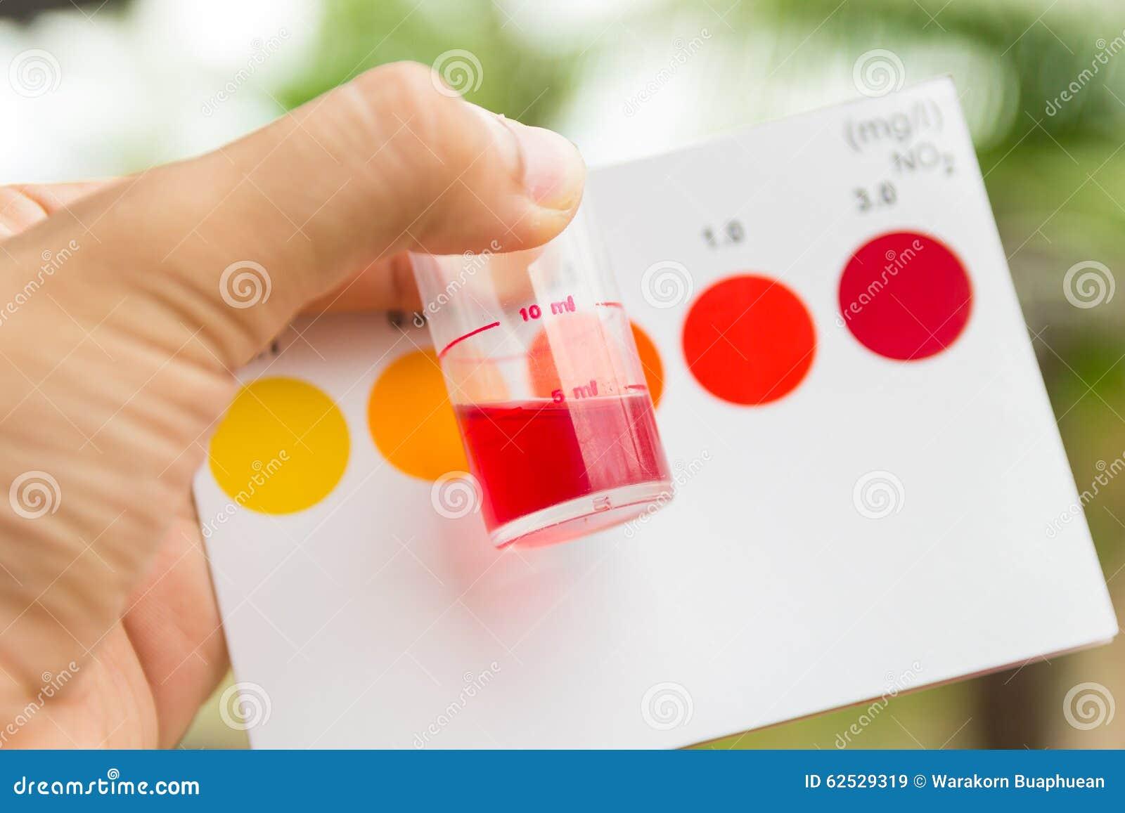 举行亚硝酸盐价值测试的手