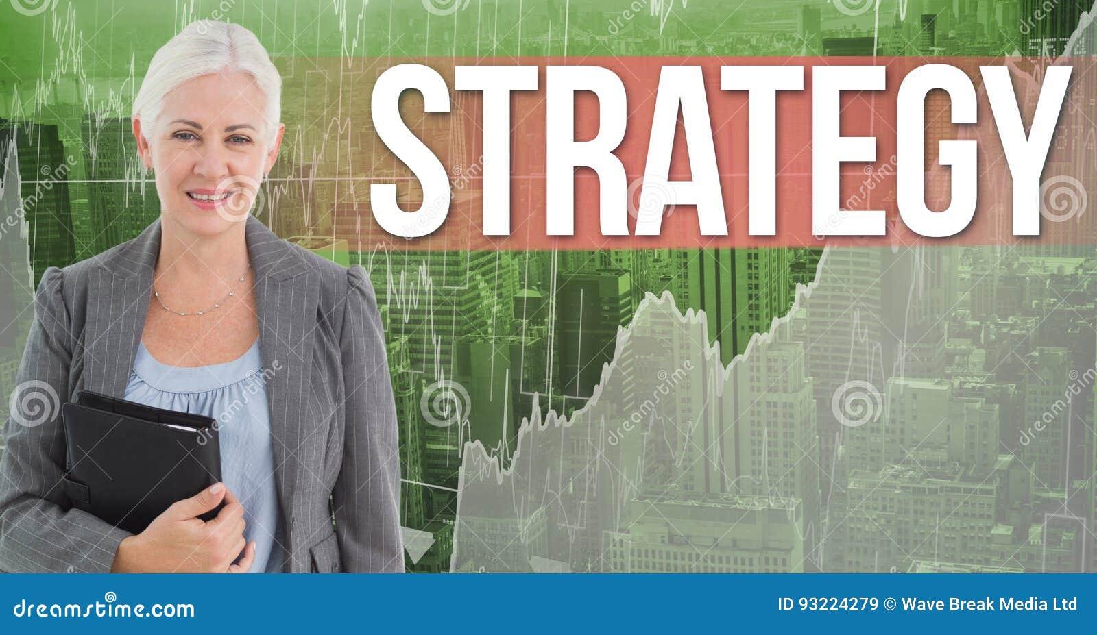 举行黑日志支持的文本战略的女实业家的数字式综合图象反对图表