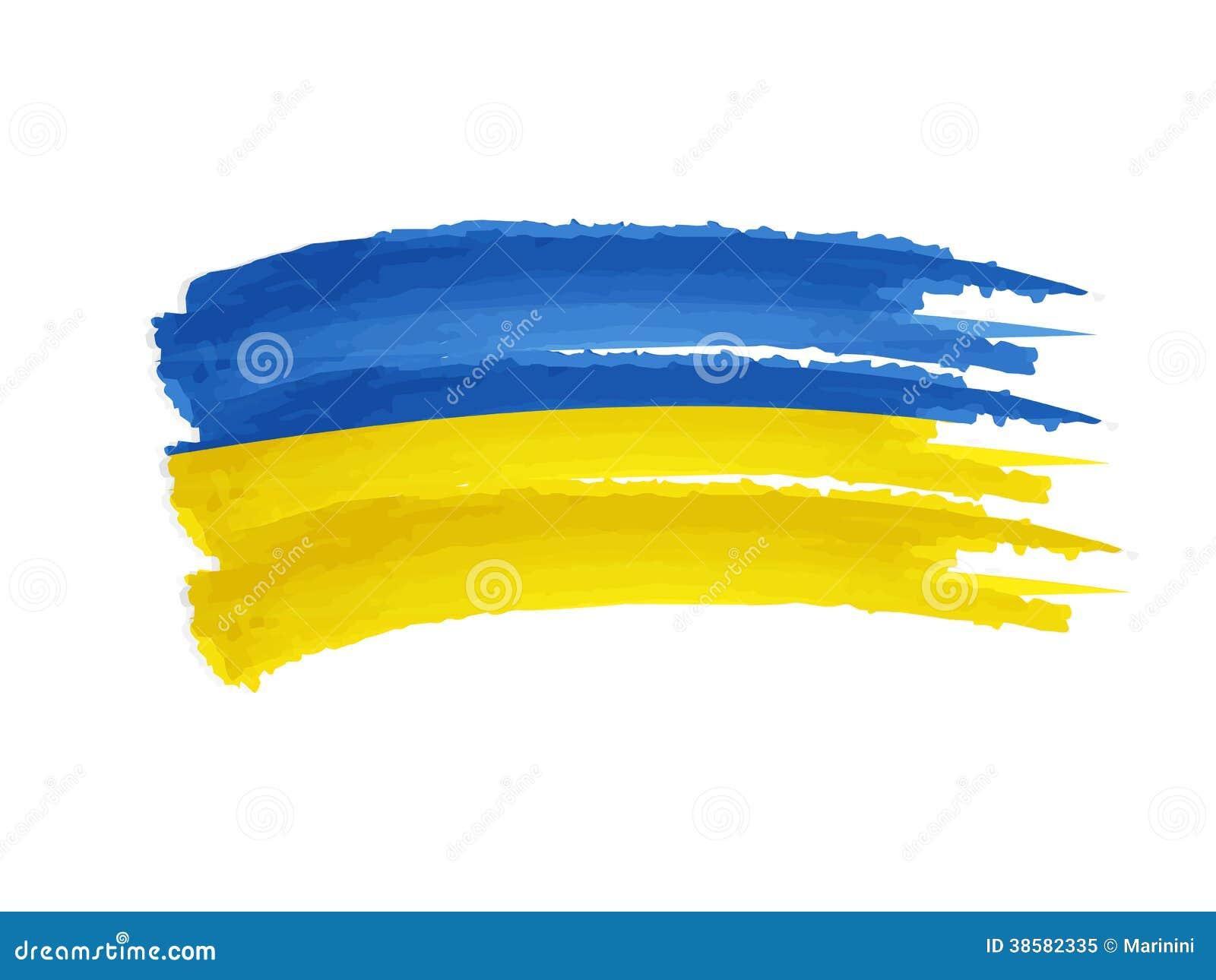 乌克兰旗子图画