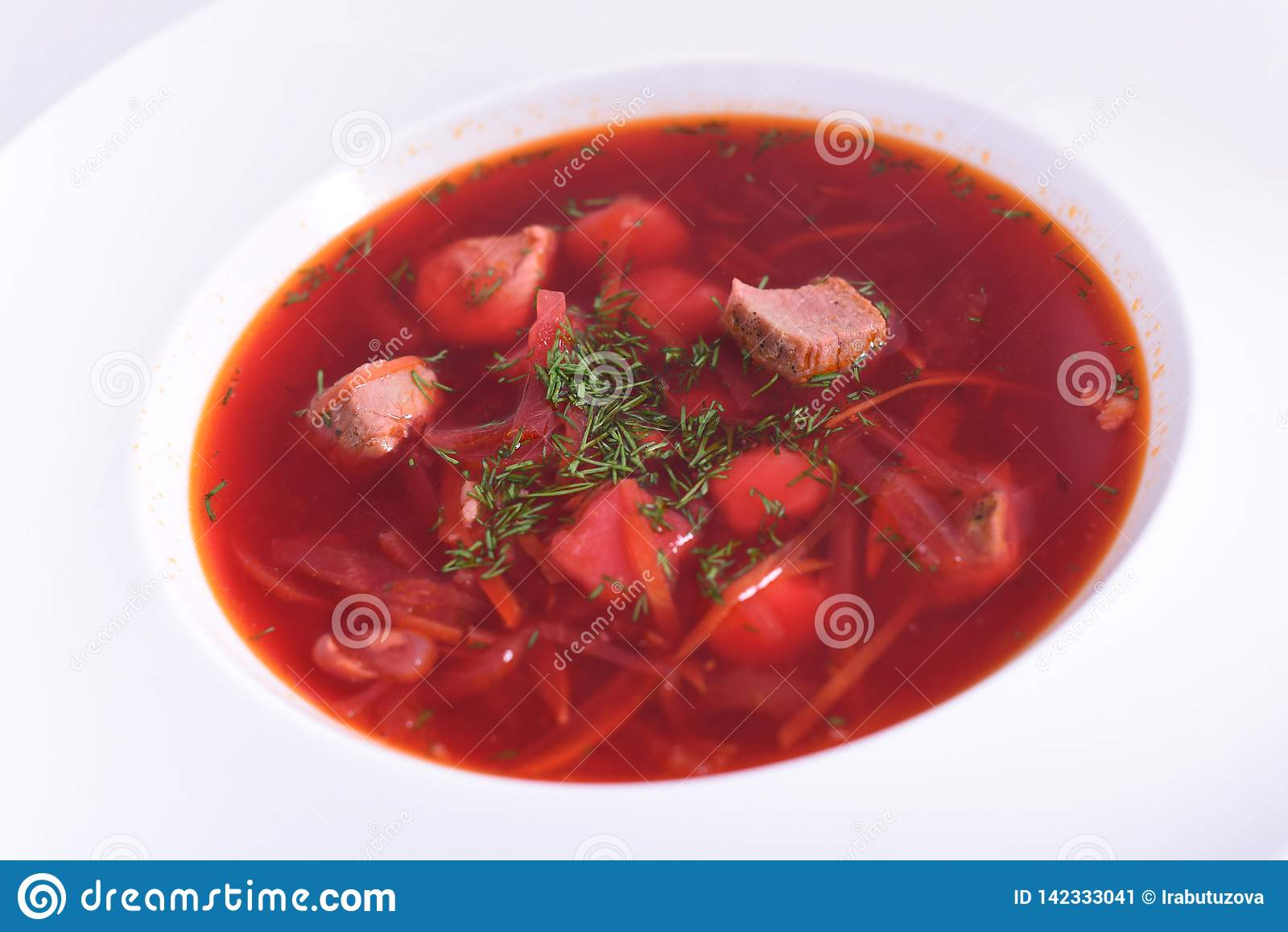 乌克兰罗宋汤特写镜头用肉-全国盘