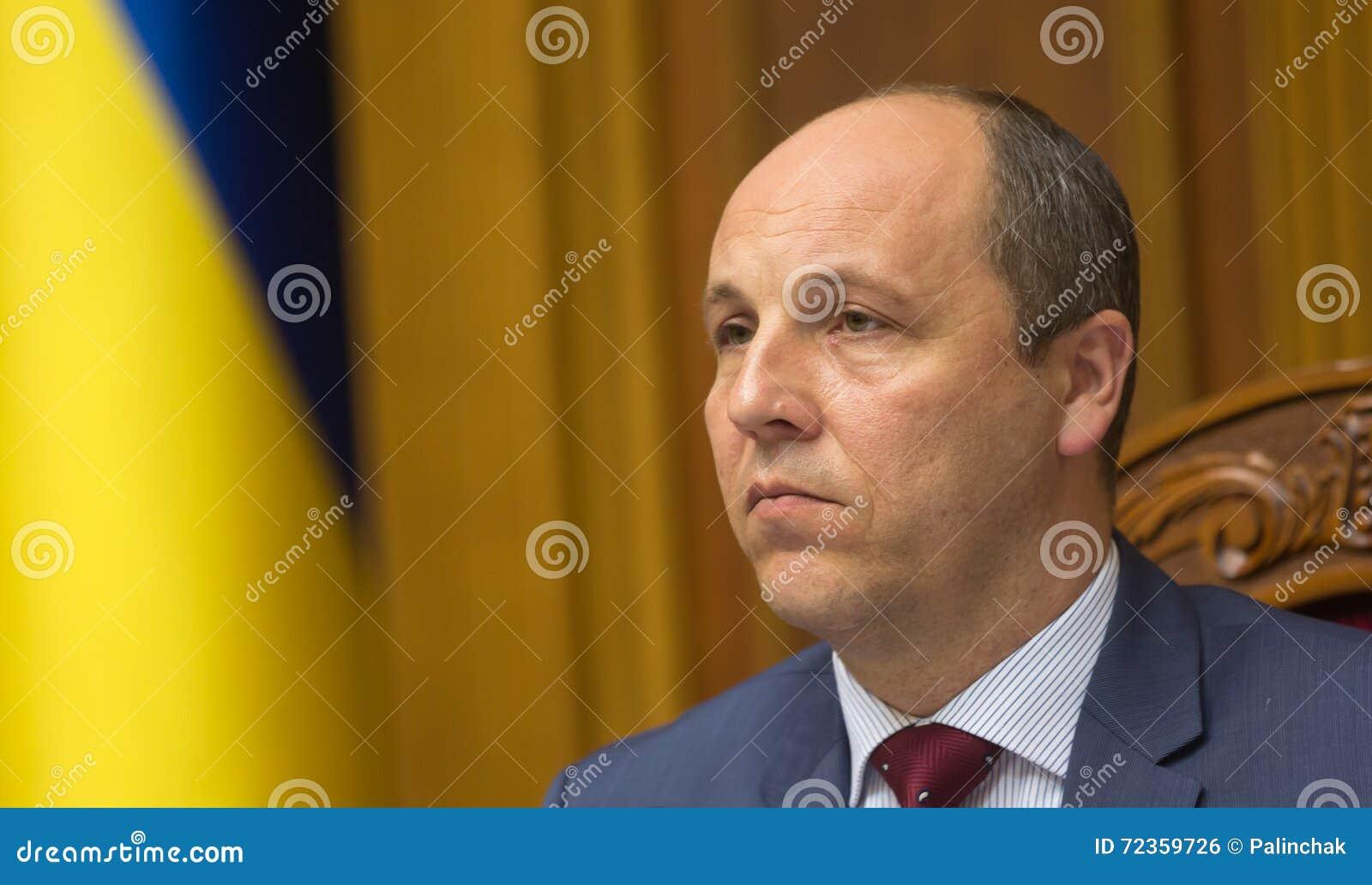 乌克兰Andriy Parub的Verkhovna Rada的主席