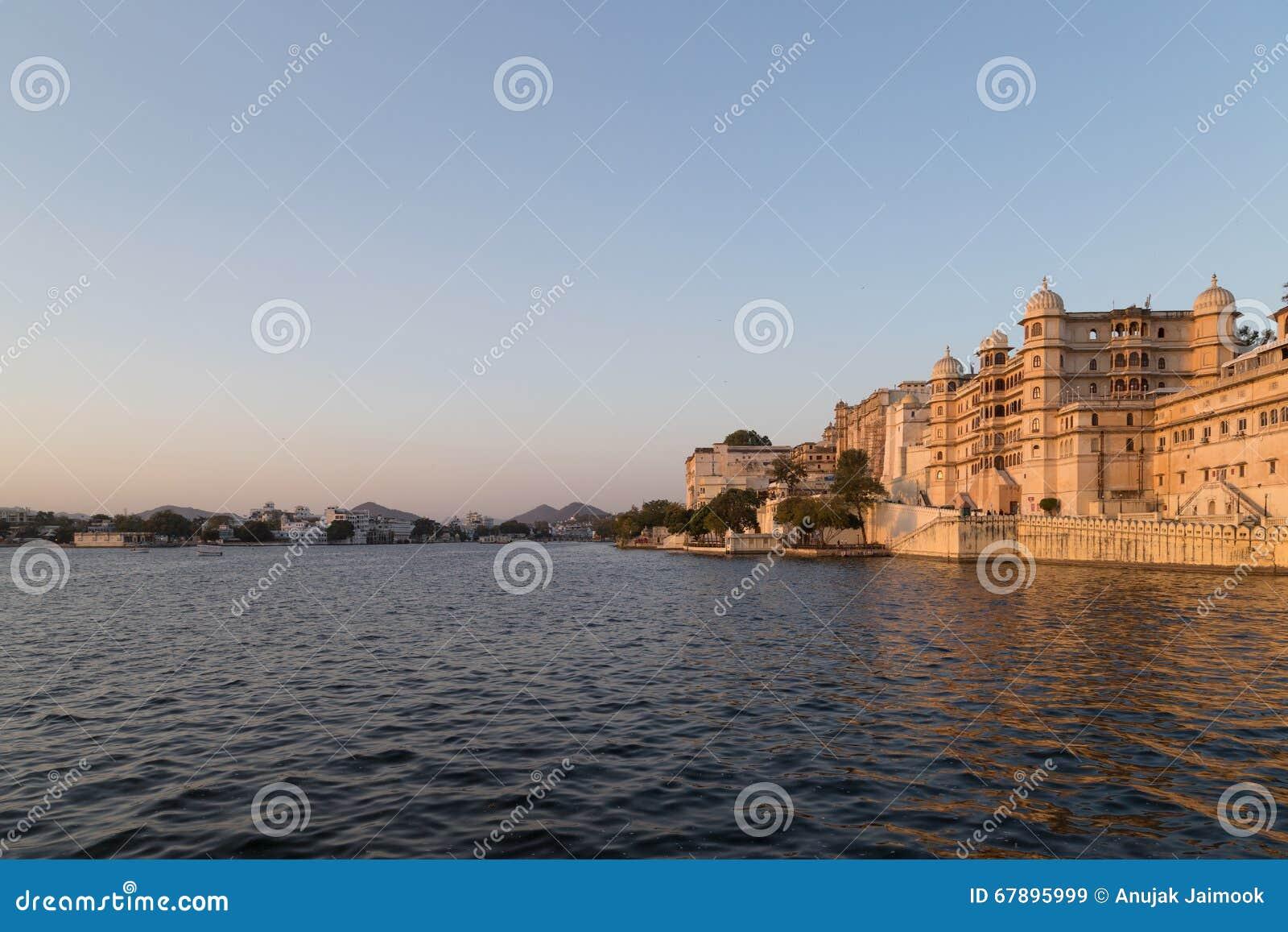 乌代浦拉贾斯坦国家的市宫殿的印度