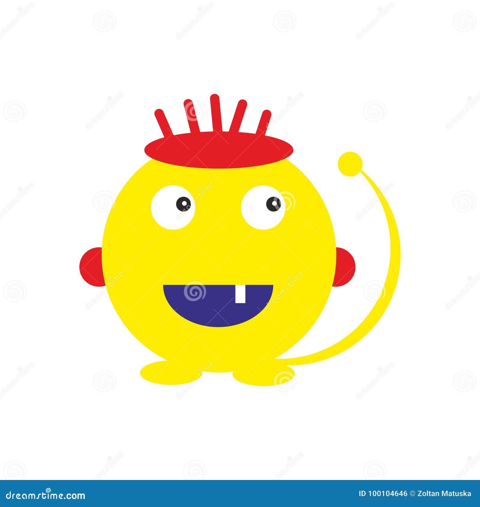 乐趣黄色妖怪哄骗象友好的例证传染媒介