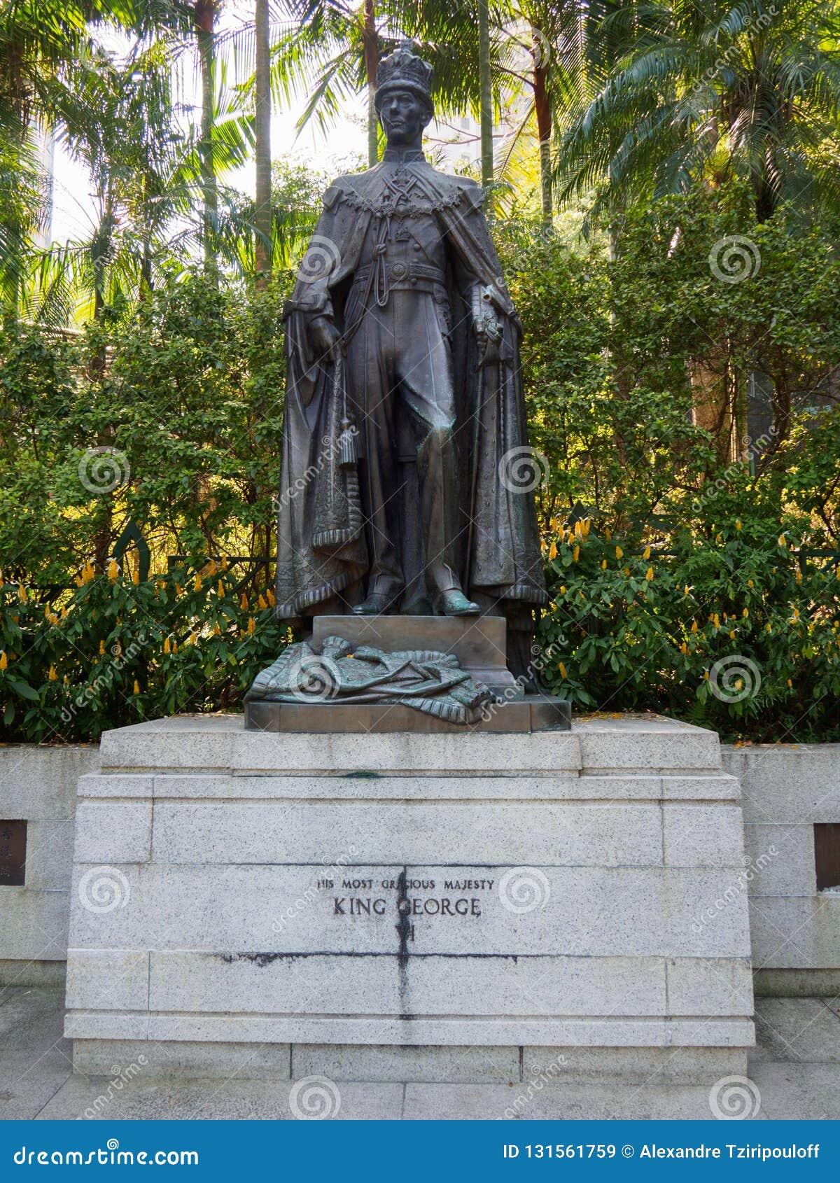 乔治六世国王雕象在香港动植物公园
