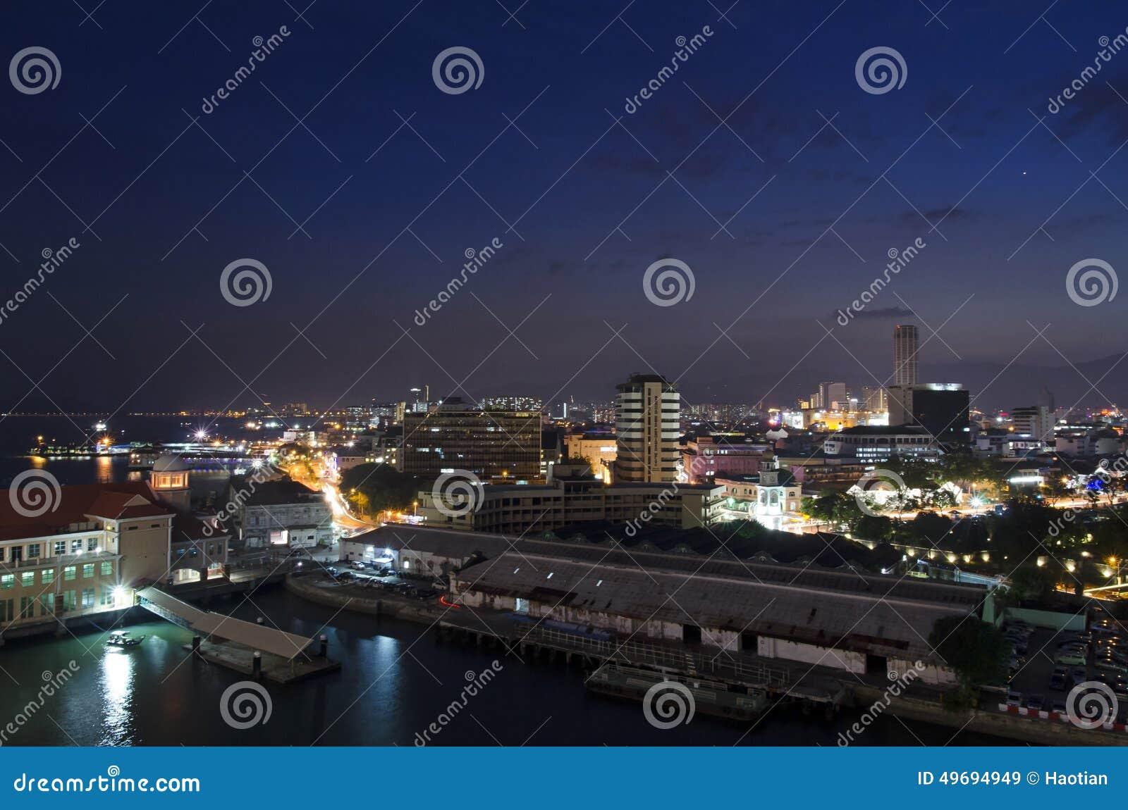 乔治城,槟榔岛,马来西亚Nightview