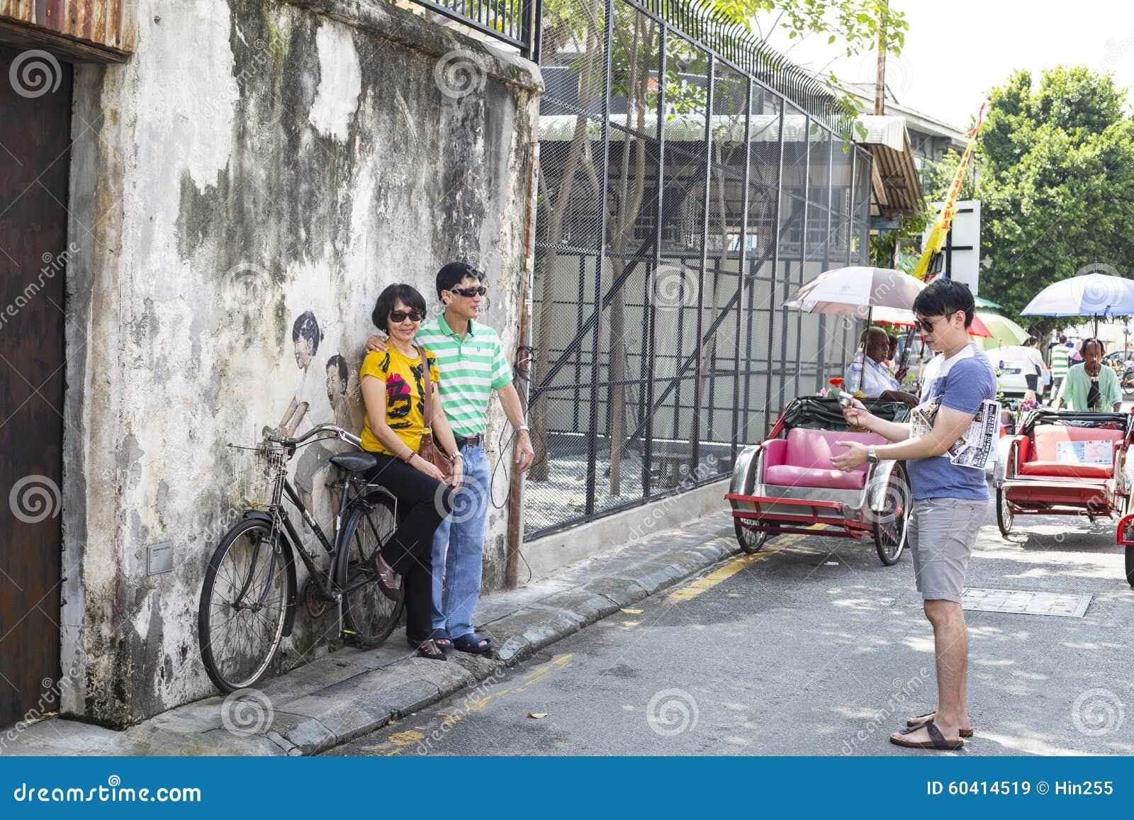 乔治市,槟榔岛,大约2015年9月06日的马来西亚:公众