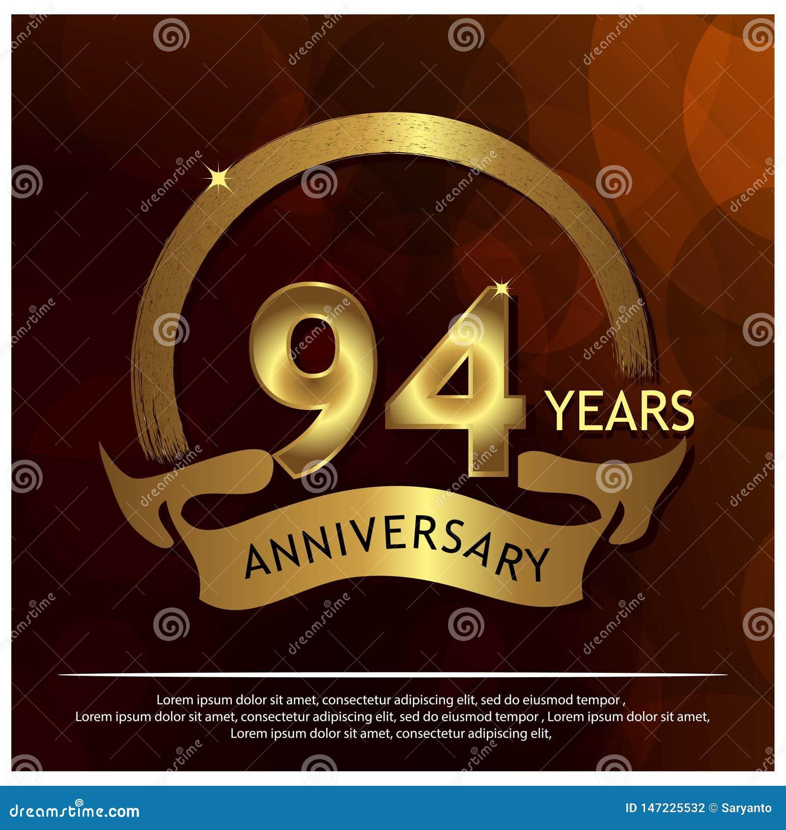 九十四年金黄的周年 周年网的,比赛,创造性的海报,小册子,传单,飞行物,magazin模板设计
