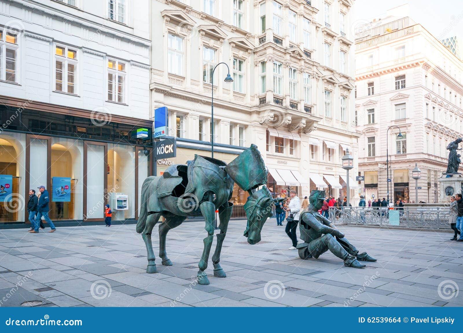 维也纳,奥地利- 2015年10月19日:法国艺术的雕塑