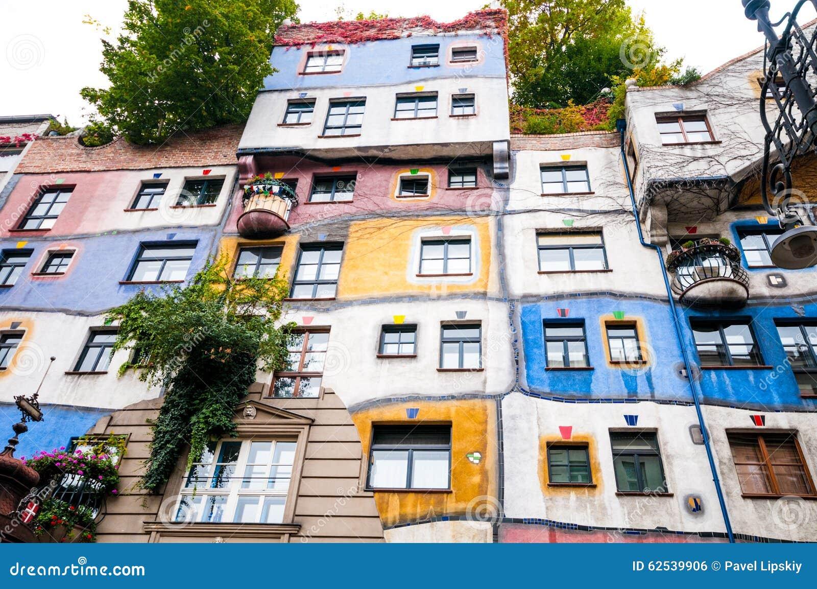 维也纳,奥地利- 2015年10月18日:Hundertwasser Haus在Vienn